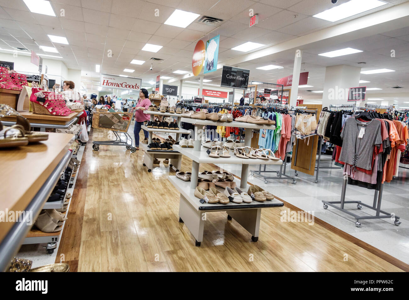 Miami Florida Kendall T.J. TJ Maxx discount department store inside shopping sale display - Stock Image