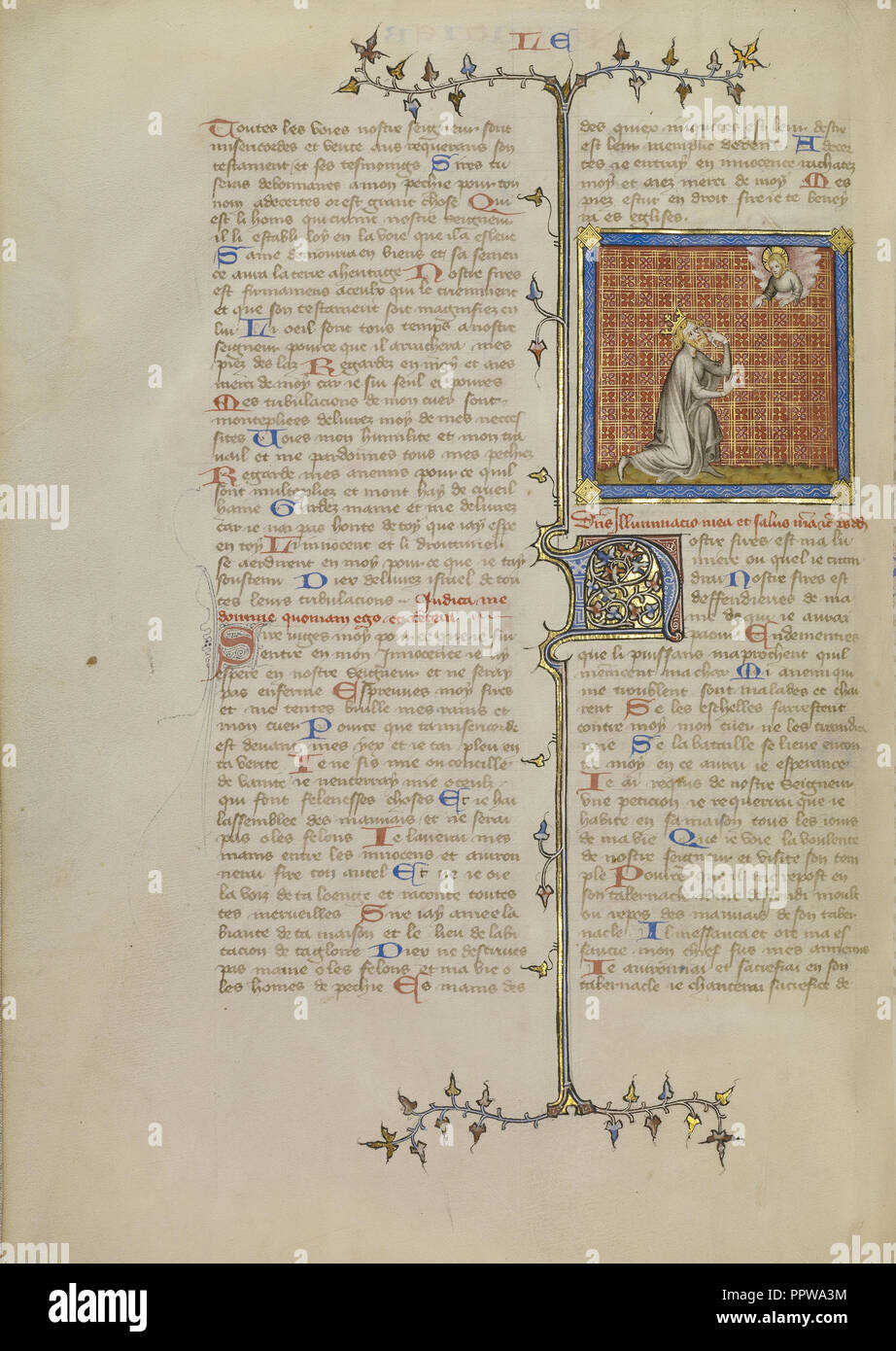 dafd3602105d David Pointing to His Eye; Master of Jean de Mandeville, French, active 1350