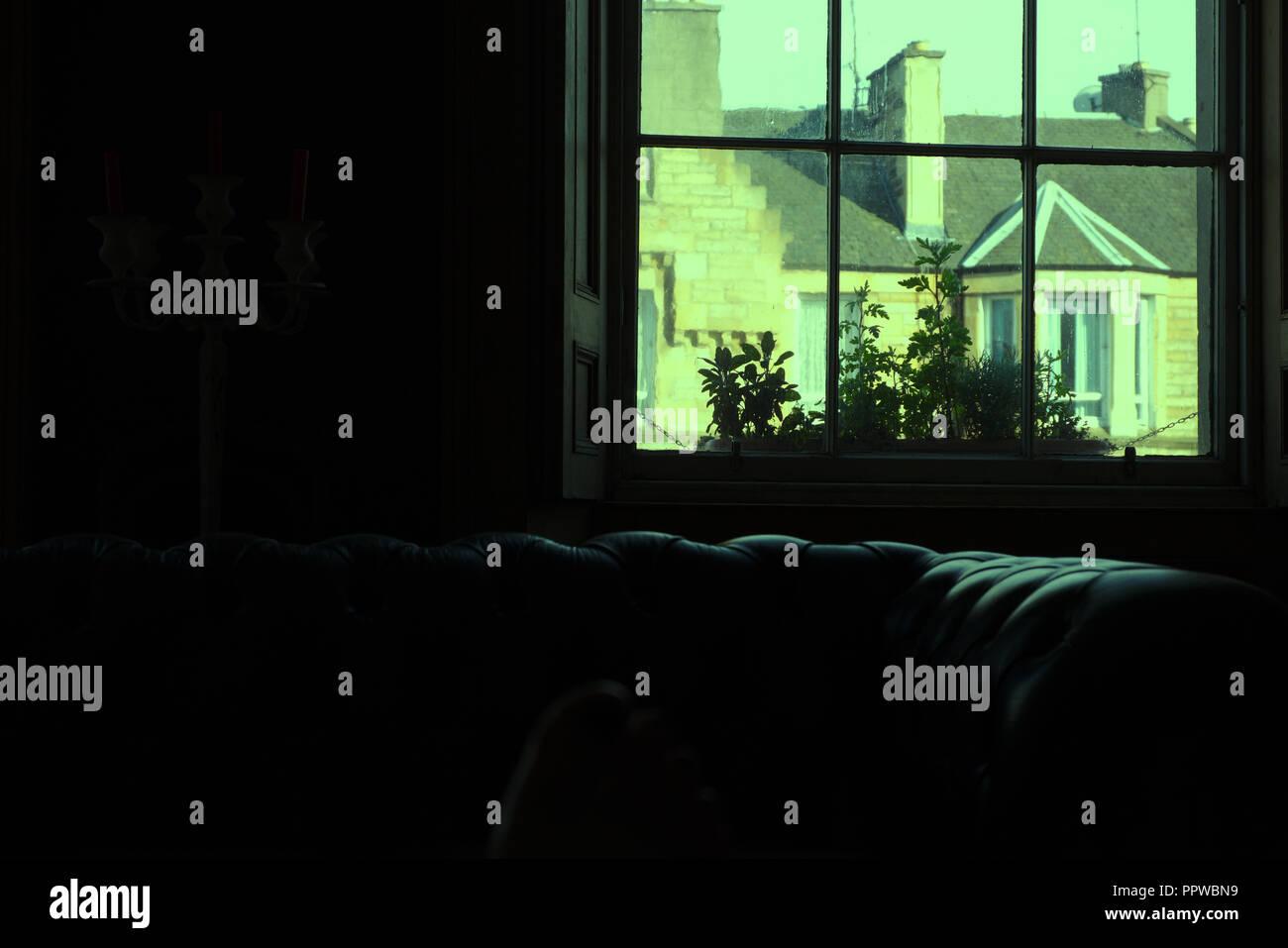 Home interior, Edinburgh, Scotland - Stock Image