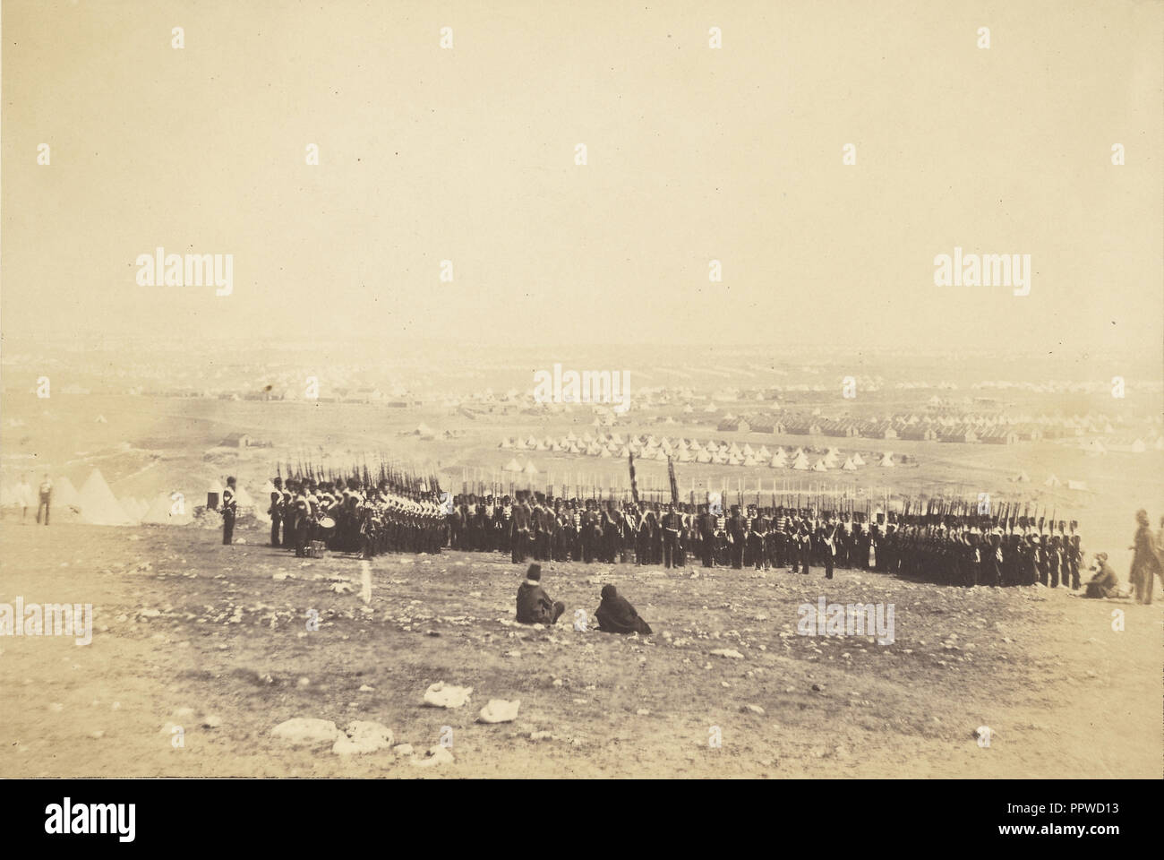Colonel Shadforth & the 57th Regiment; Roger Fenton, English, 1819 - 1869, 1855; published March 25, 1856; Salted paper print - Stock Image