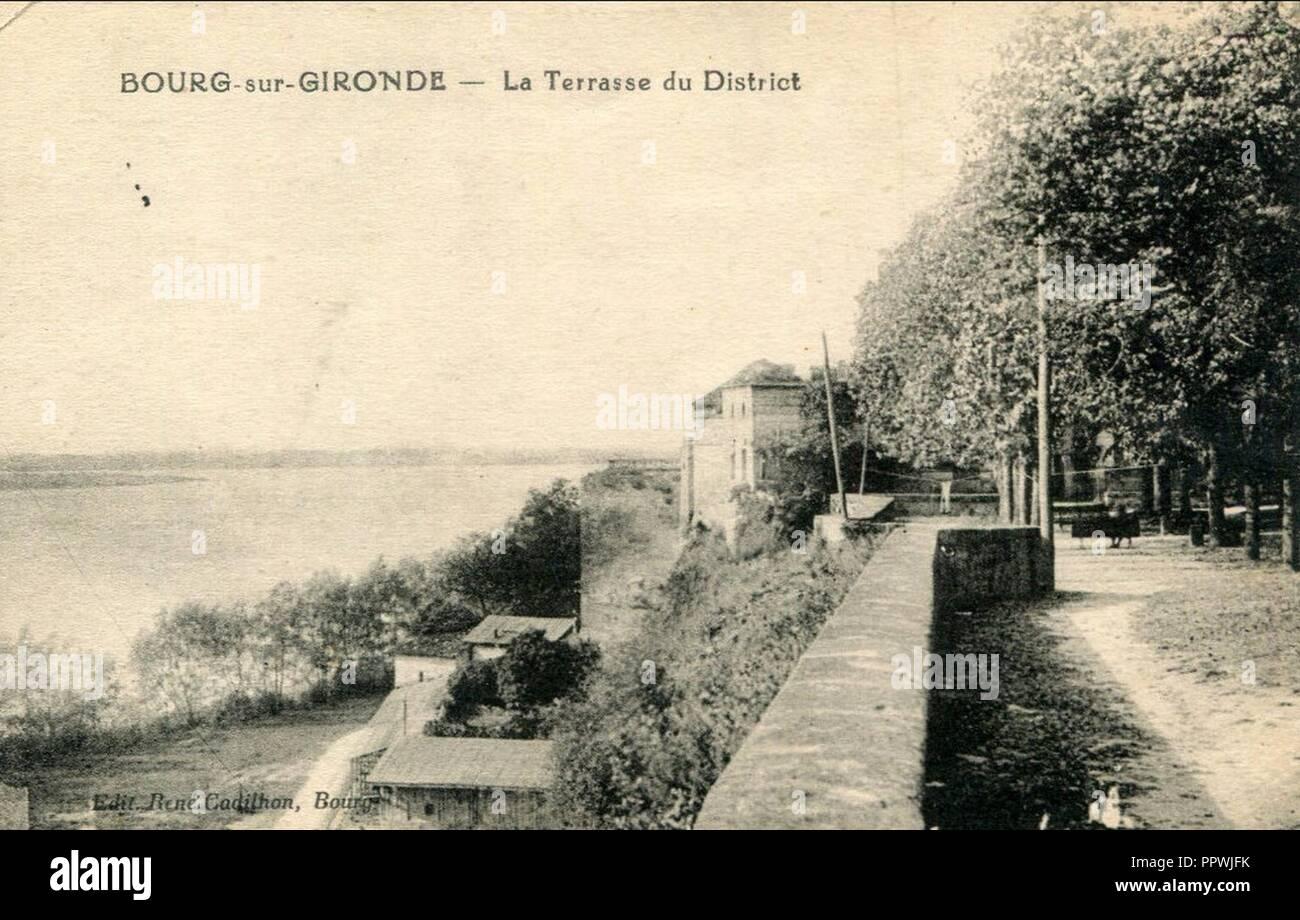 Bourg - Place du District 9. - Stock Image