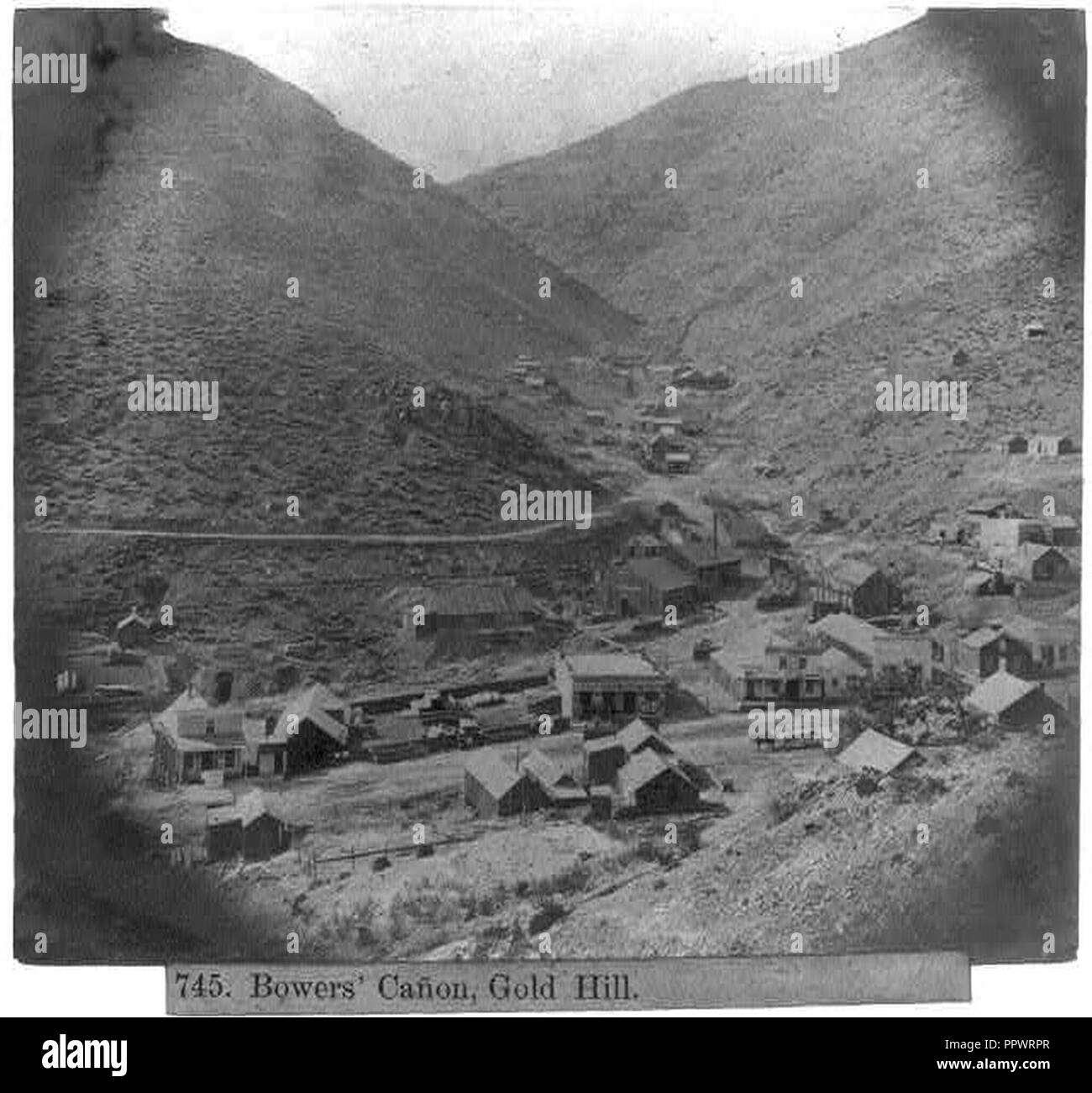 Bower's Canõn Gold Hill - Stock Image