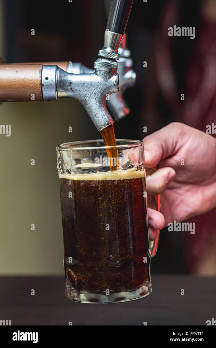 German barrel beer - Stock Image