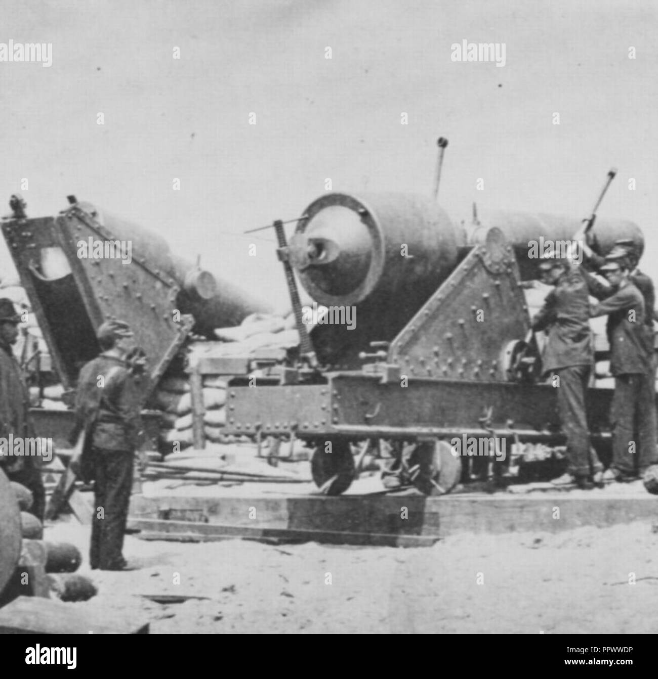 Brady, Mathew B. - Große Kanone – Morris Insel - Stock Image