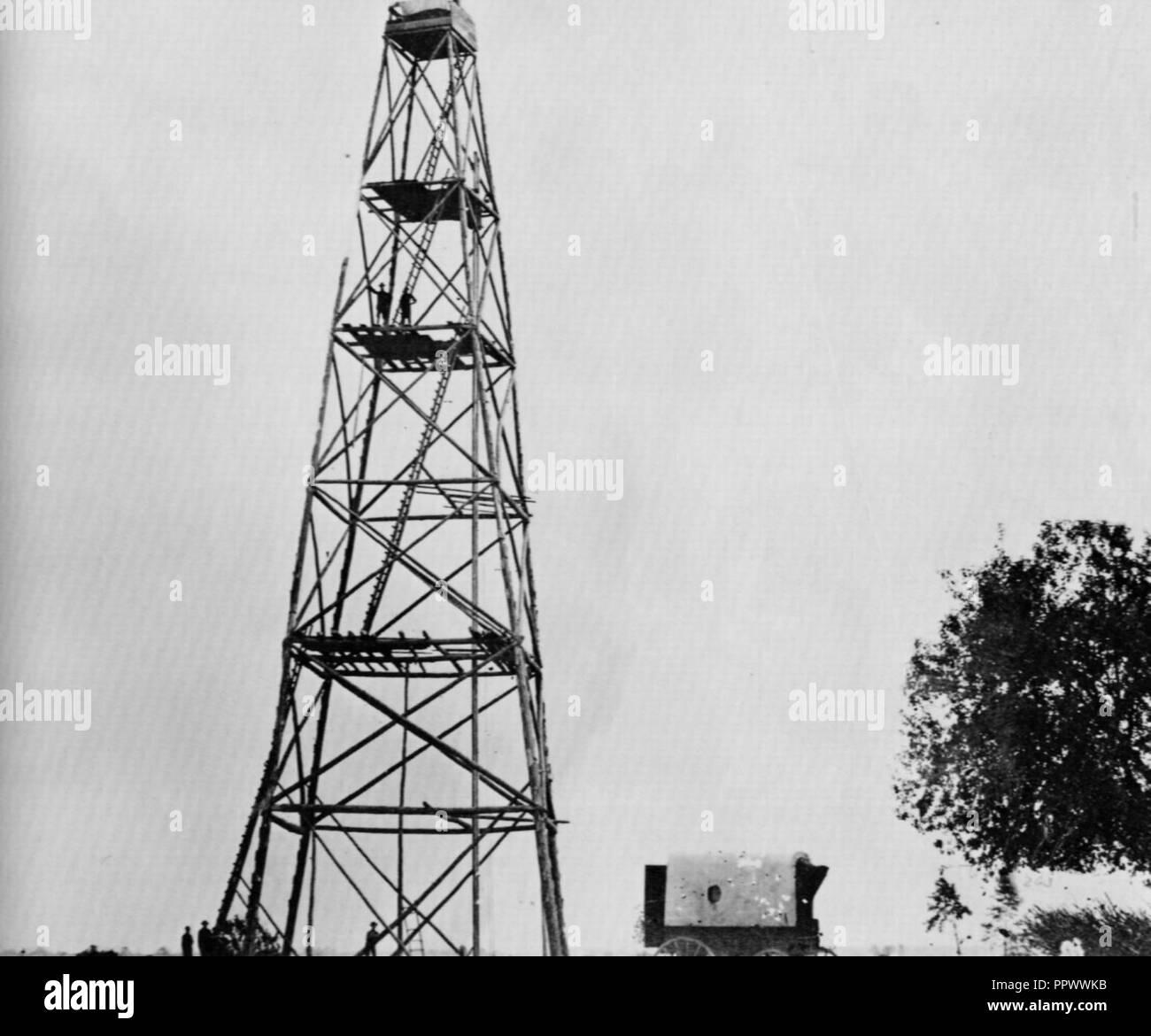 Brady, Mathew B. - Spähturm auf der Linie vor Petersburg VA. Stock Photo