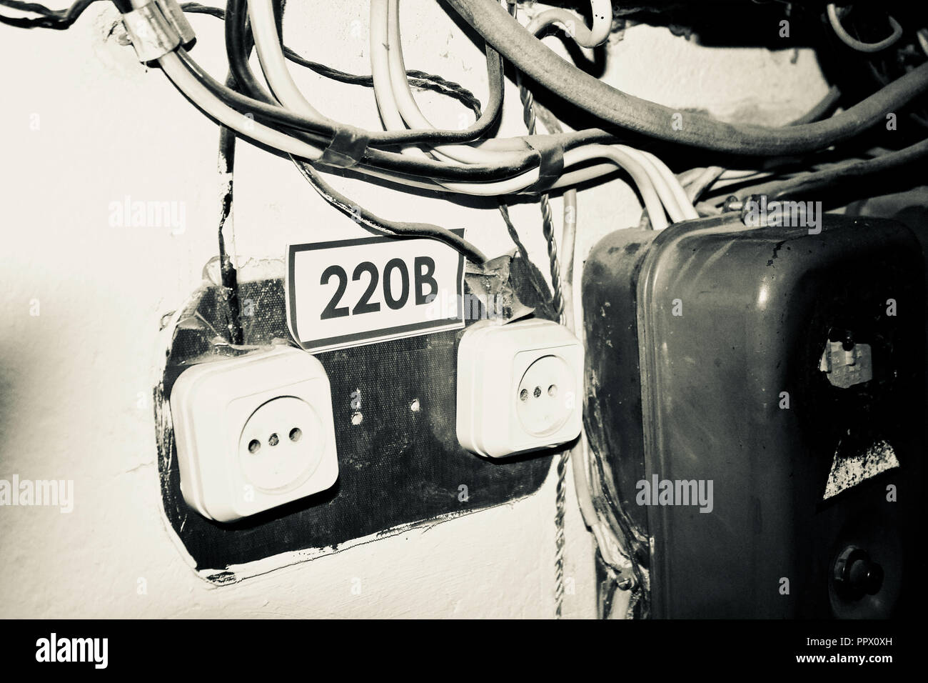 Strange Old Electrical Wiring Stock Photos Old Electrical Wiring Stock Wiring Cloud Nuvitbieswglorg