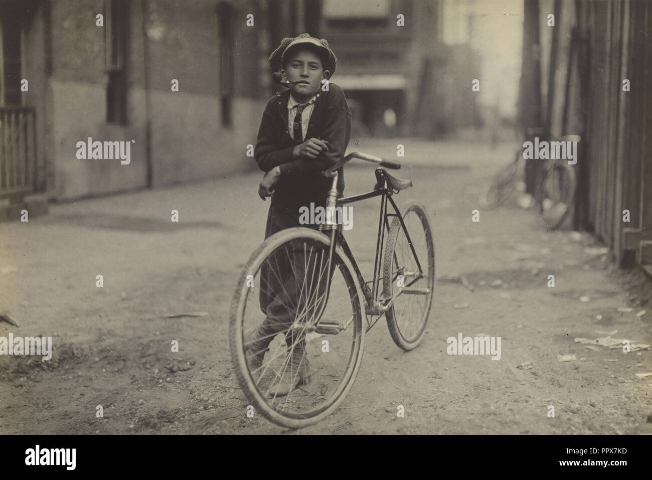 Messenger Boy for Mackay Telegraph Company, Waco, Texas; Lewis W. Hine, American, 1874 - 1940, Waco, Texas, United States - Stock Image