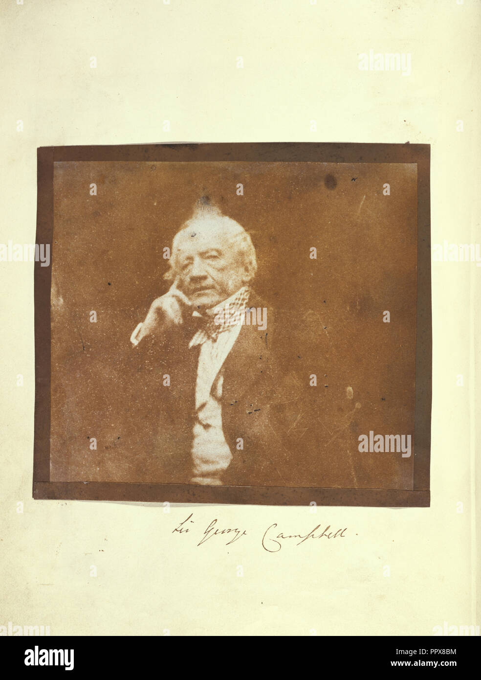 Sir George Campbell; Attributed to Dr. John Adamson, Scottish, 1810 - 1870, or Robert Adamson, Scottish, 1821 - 1848, 1842 - Stock Image
