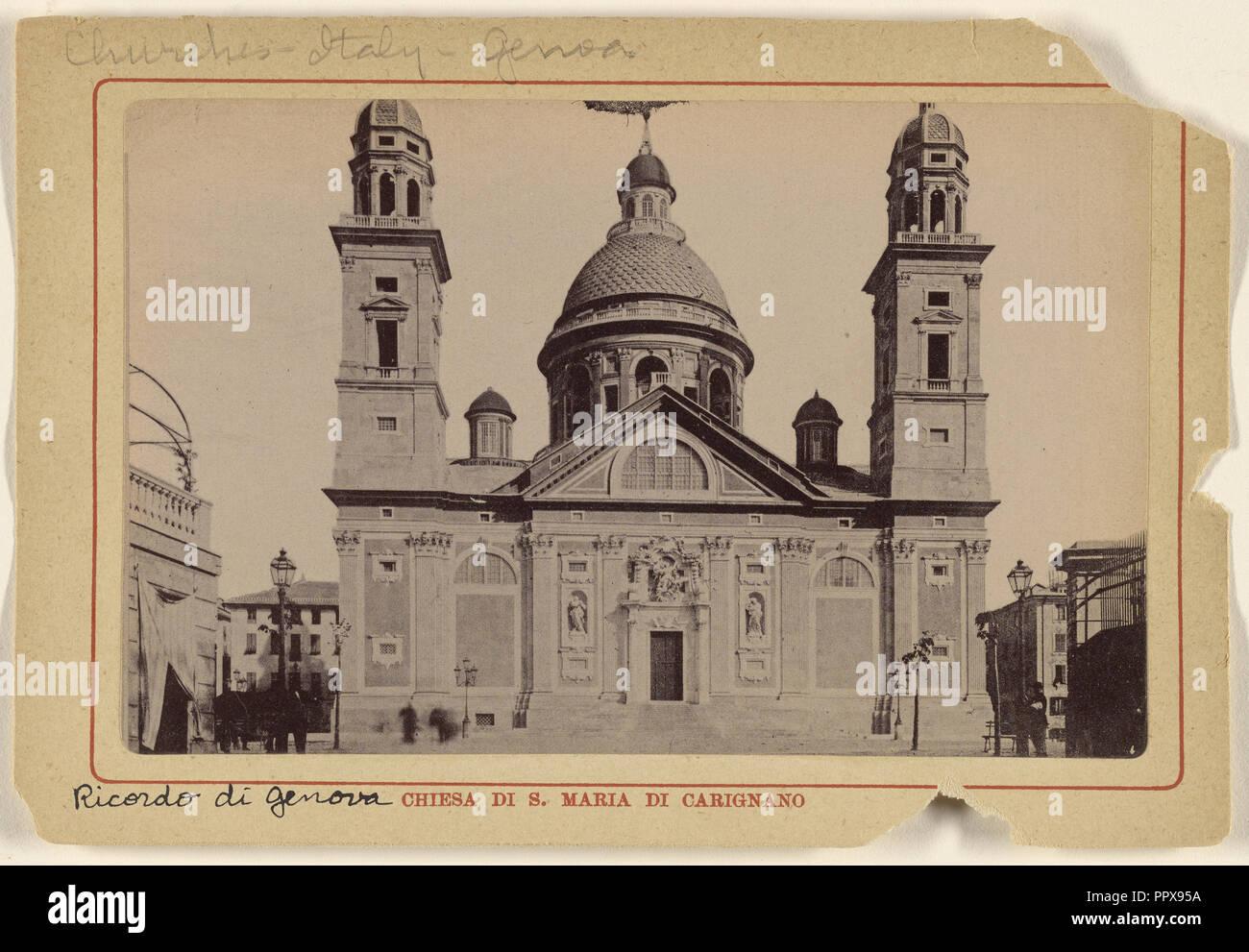 Chiesa di S. Maria Carignano; Italian; about 1890; Gelatin silver print - Stock Image