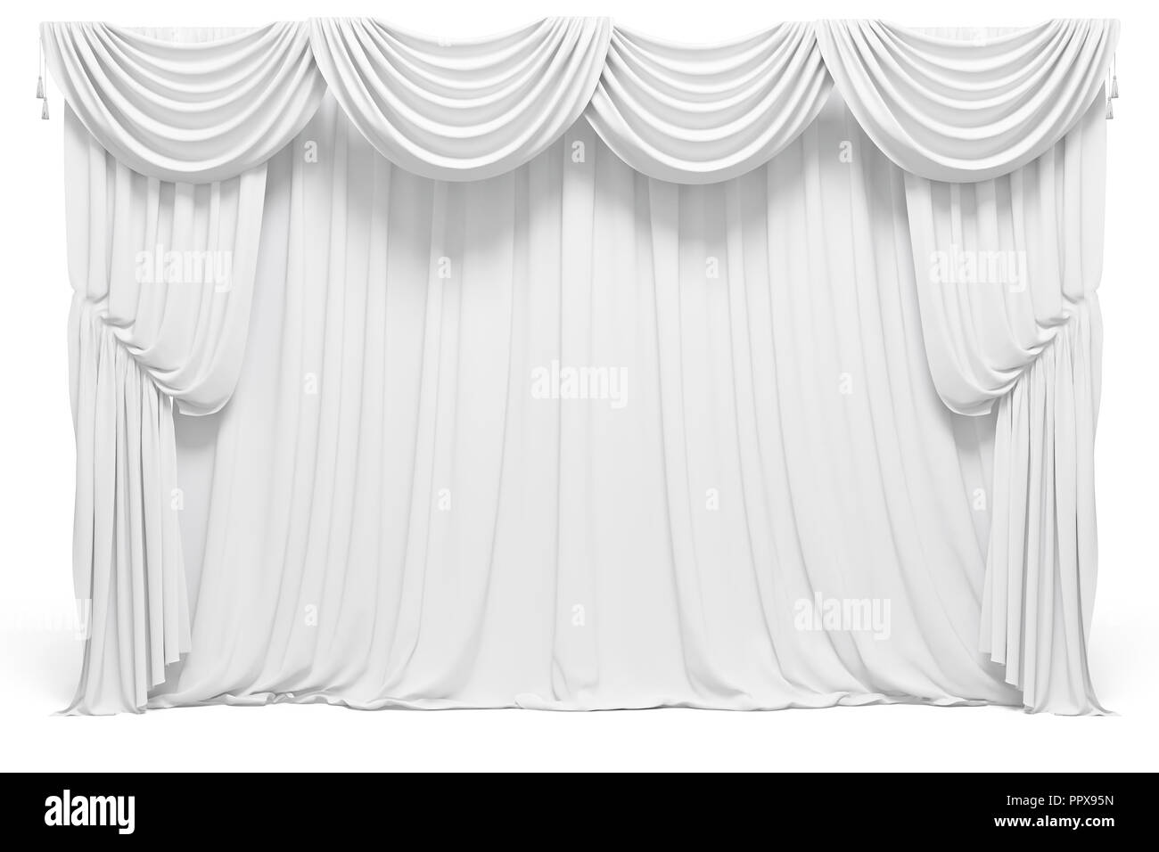 3d curtains on white background Stock Photo: 220624817 - Alamy