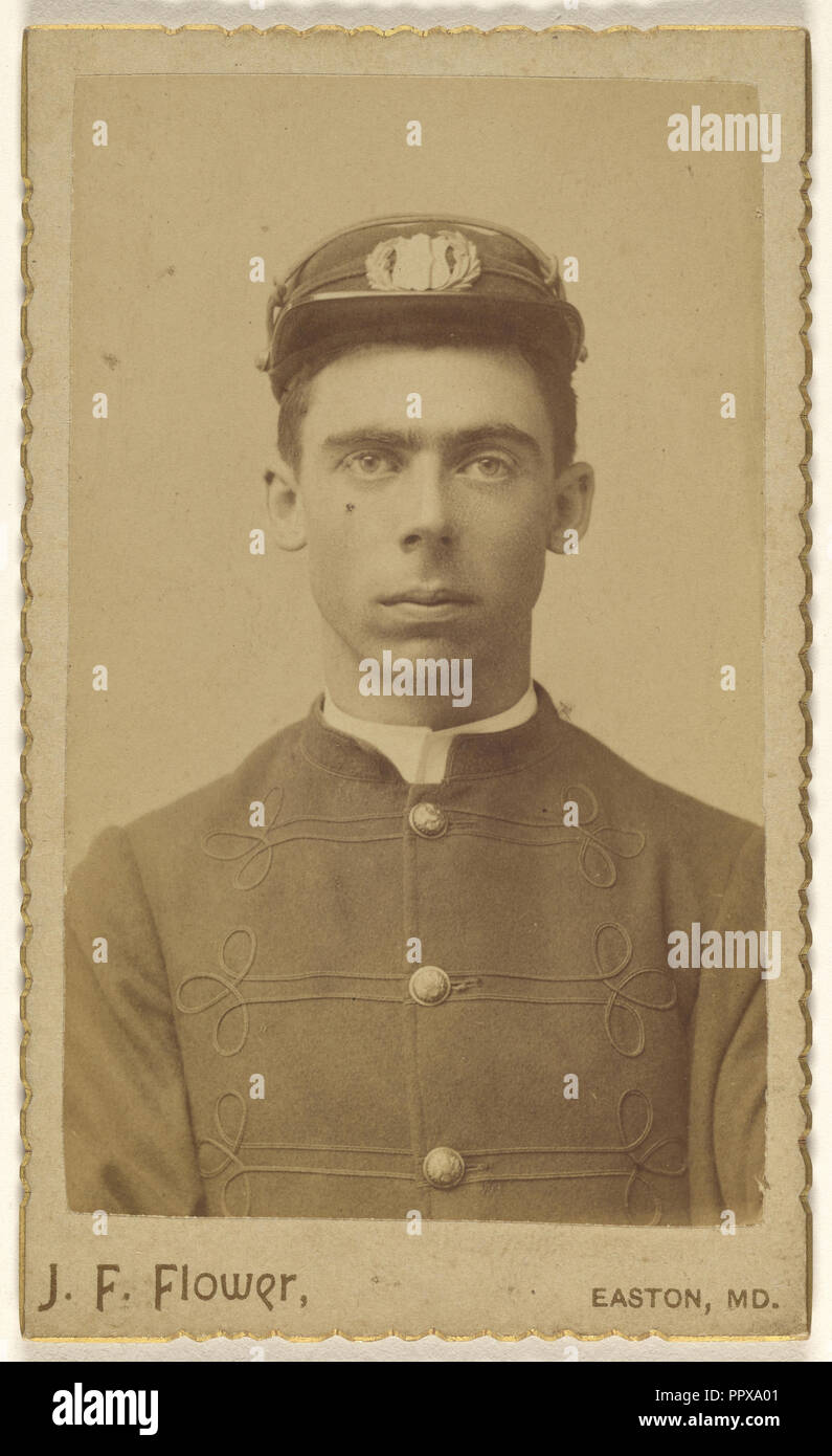 soldier, nineteen years old; J. F. Flower, American, active 1890s, September 1891; Albumen silver print - Stock Image