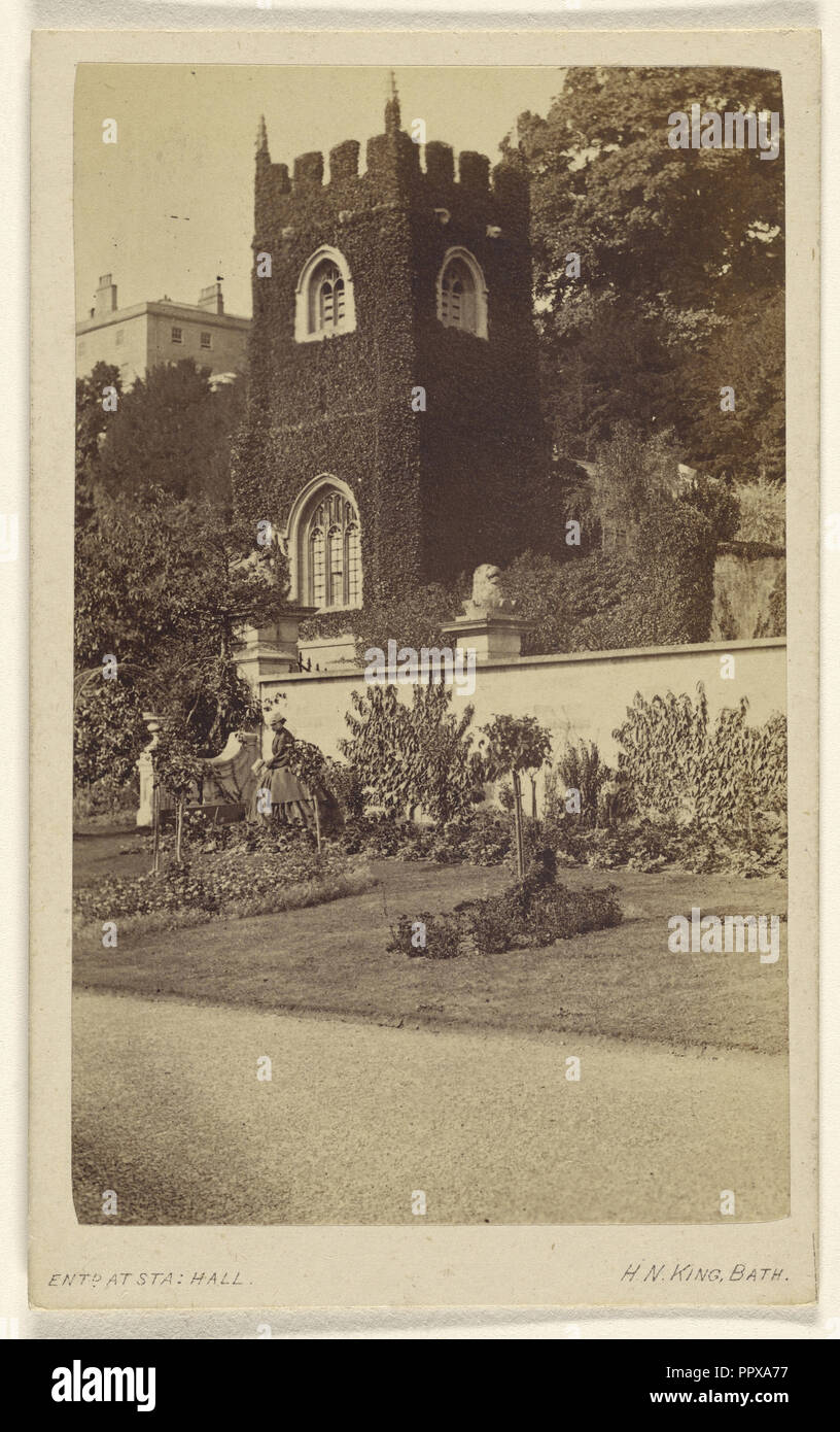 Old Church near Bath - in Prior Park where Fielding wrote Tom Jones; Horatio B. King, American, 1820 - 1889, about 1865 - Stock Image