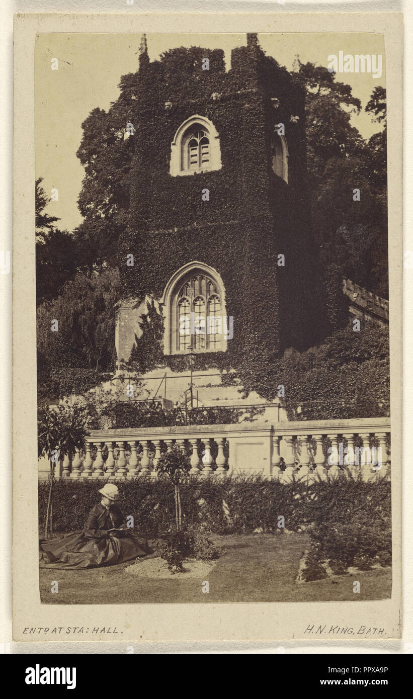 Old Church near Bath - in Prior Park - where Fielding wrote Tom Jones; Horatio B. King, American, 1820 - 1889, 1865 - 1870 - Stock Image