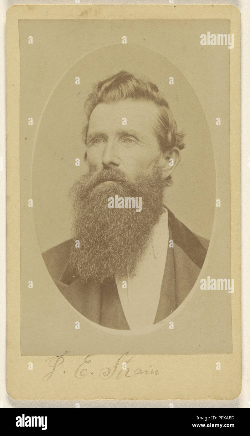 J.E. Strain; William Reed, American, born Canada, 1870 - 1880; Albumen silver print - Stock Image