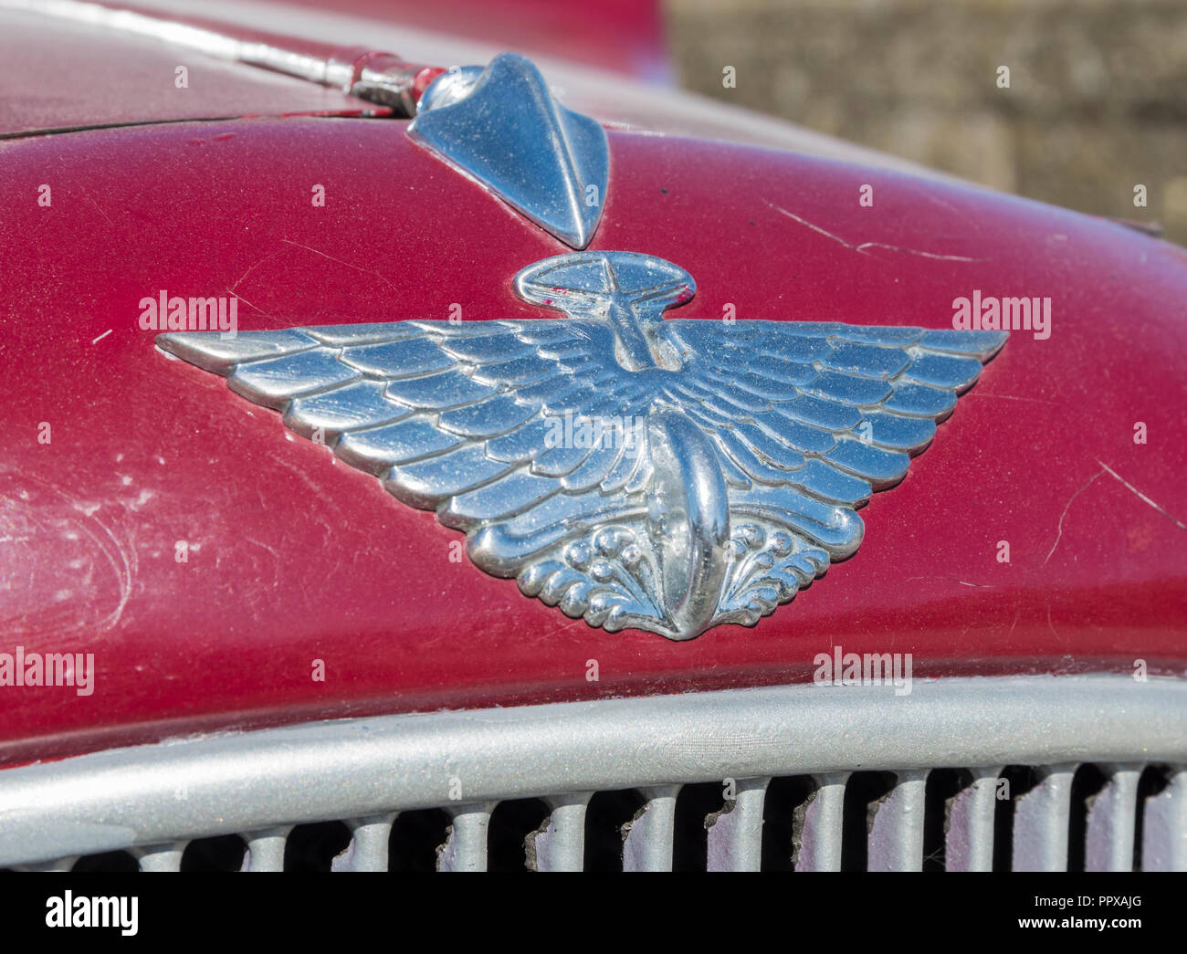 Austin badge from a 1930s car. - Stock Image