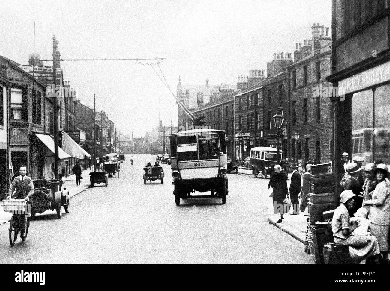 Boroughgate, Otley early 1900's - Stock Image