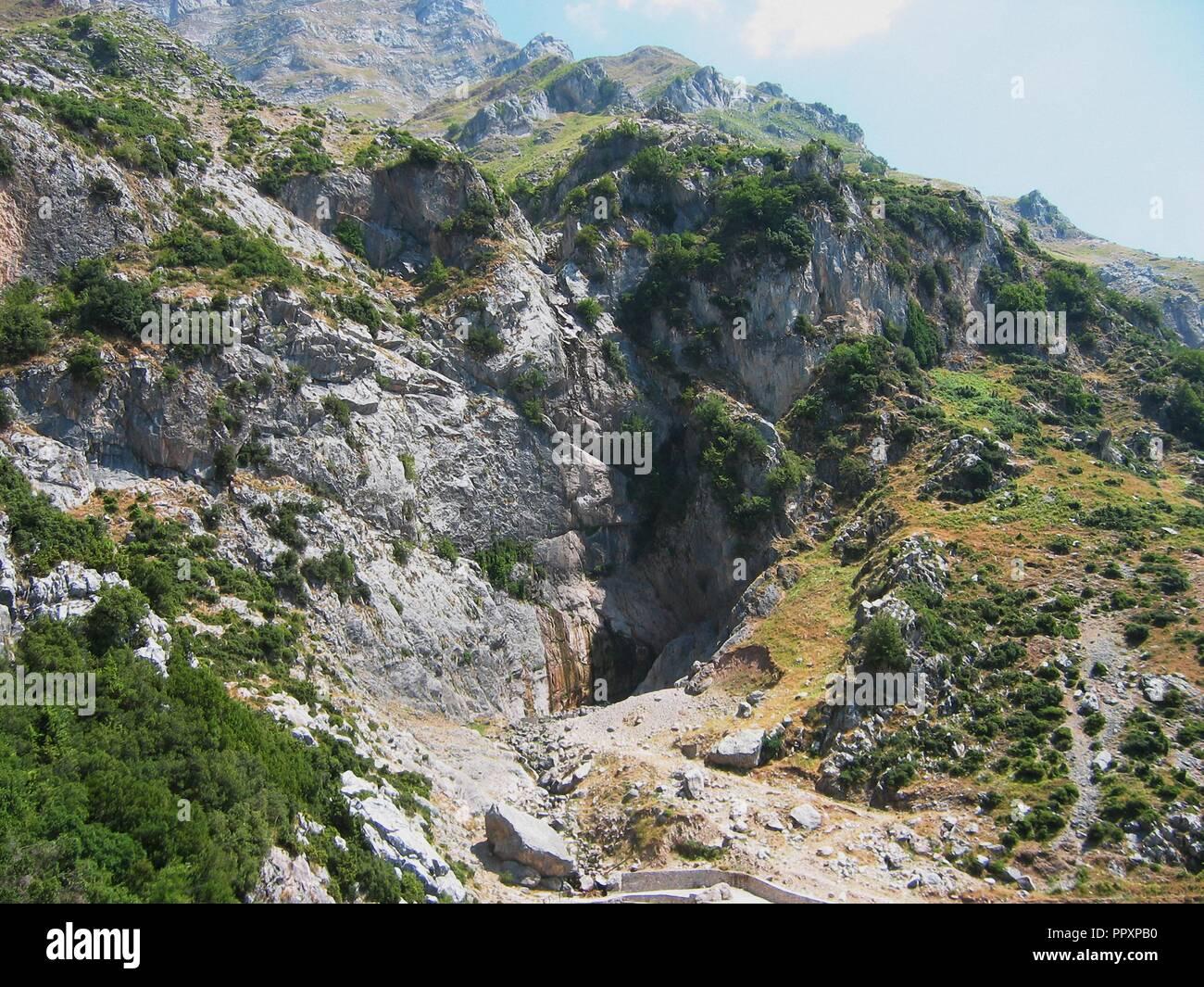 Agnanta Waterfall at Tzoumerka mountain Epirus Greece - Stock Image