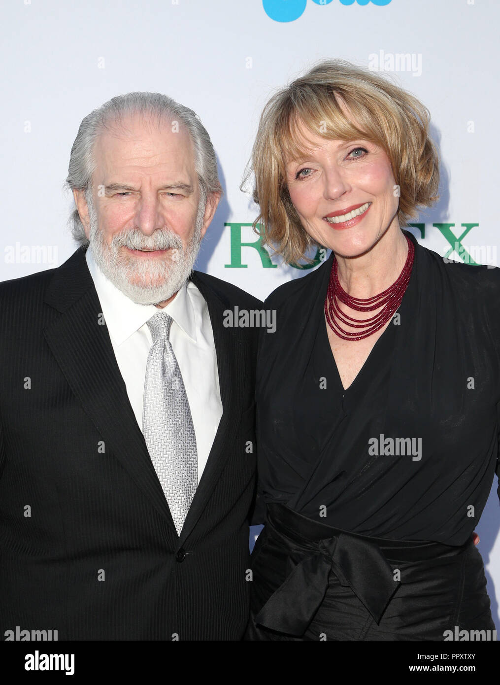 Los Angeles, Ca, USA. 27th Sep, 2018. Steve Jaffe, Susan Blakely, at Los Angeles Philharmonic Opening Night at The Walt Disney Concert Hall in Los Angeles California on September 27, 2018. Credit: Faye Sadou/Media Punch/Alamy Live News - Stock Image