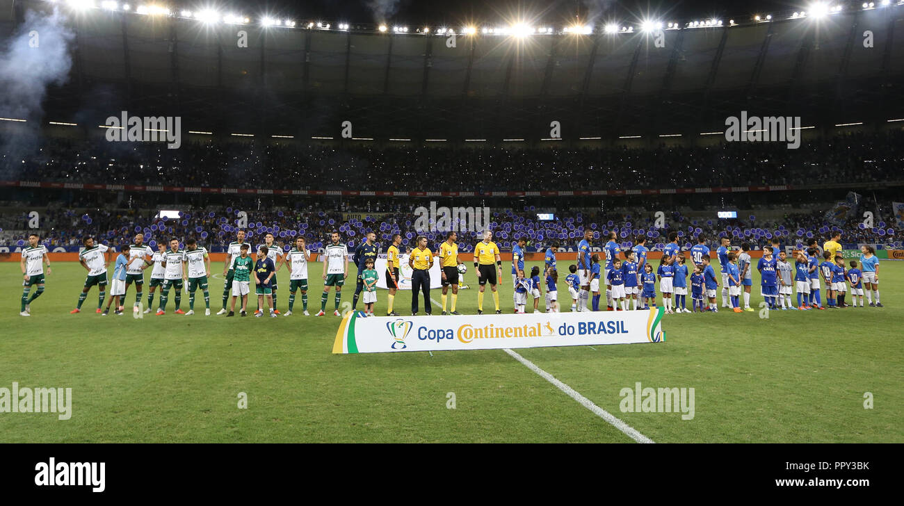 Belo Horizonte, Brazil. 26th Sep, 2018. The SE Palmeiras team, against Cruzeiro EC, during a match validated by the semifinals (back) of the Brazilian Cup at the Estádio do Mineirão. Credit: Cesar Greco/FotoArena/Alamy Live News Stock Photo