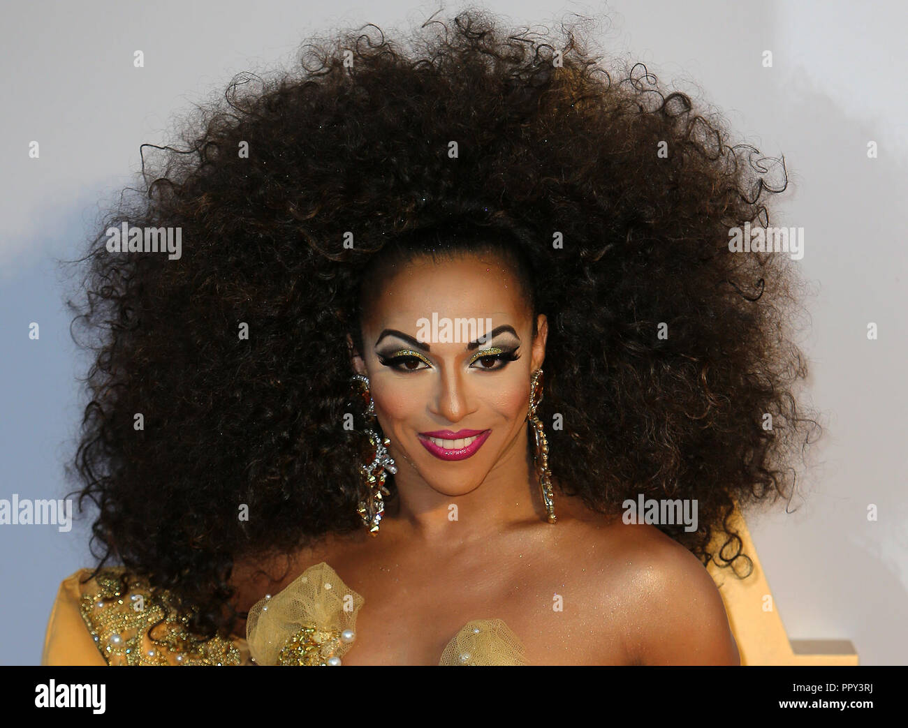 London, UK. 27th September 2018. Shangela, A Star is Born European Premiere, Vue West End, London, 27th September 2018. Photo by Tejas Sandhu Credit: Rich Gold/Alamy Live News Stock Photo