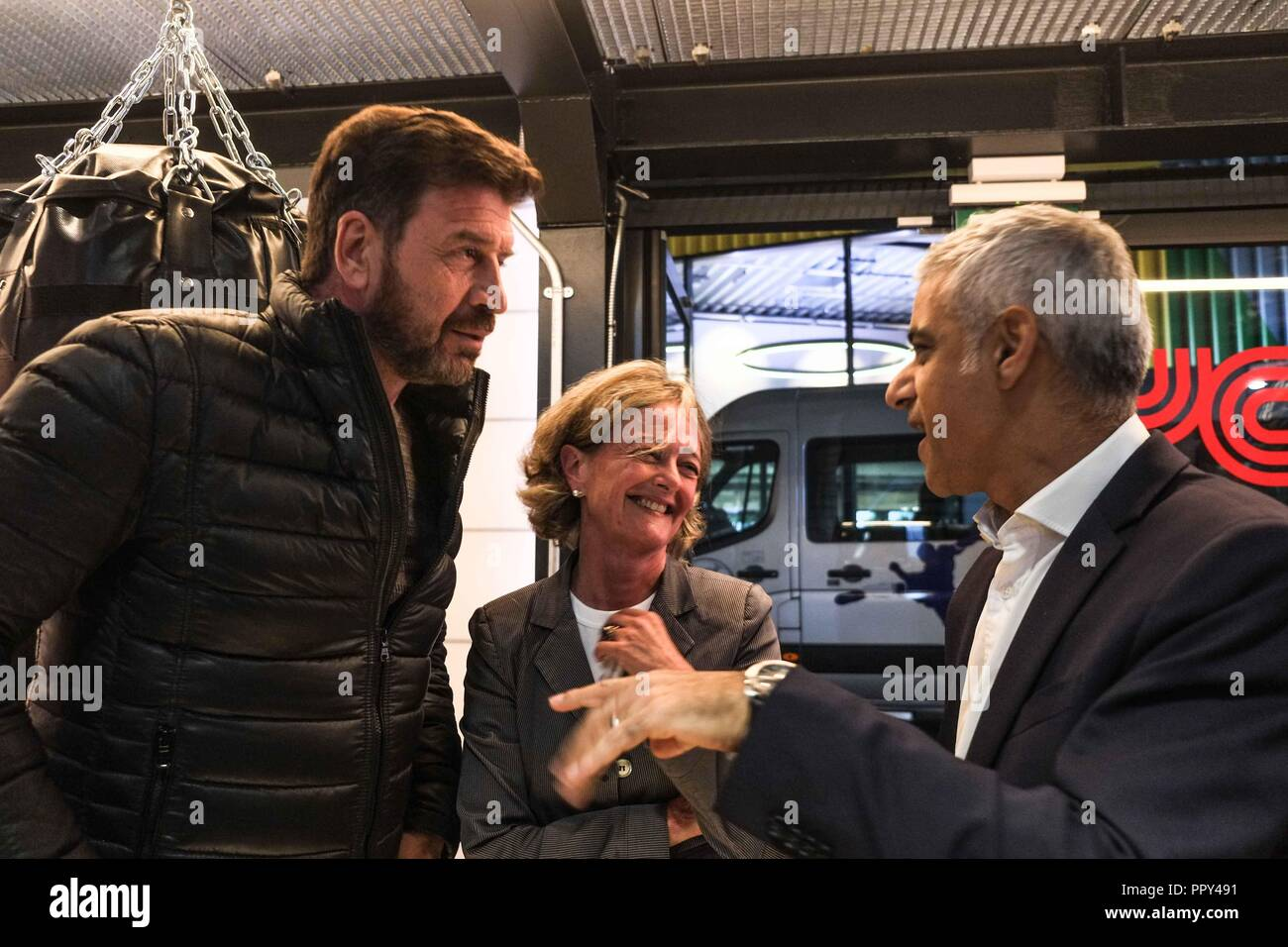 London 28th September 2018: DIY SOS TV presenter Nick Knowles, Kensington  and Chelsea Councillor
