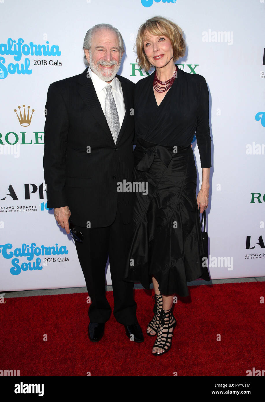 September 27, 2018 - Los Angeles, California, U.S. - 27 September 2018 - Los Angles, California - Steve Jaffe, Susan Blakely.  100th LA Philharmonic Opening Night Gala held at The Walt Disney Concert Hall. Photo Credit: Faye Sadou/AdMedia (Credit Image: © Faye Sadou/AdMedia via ZUMA Wire) Stock Photo