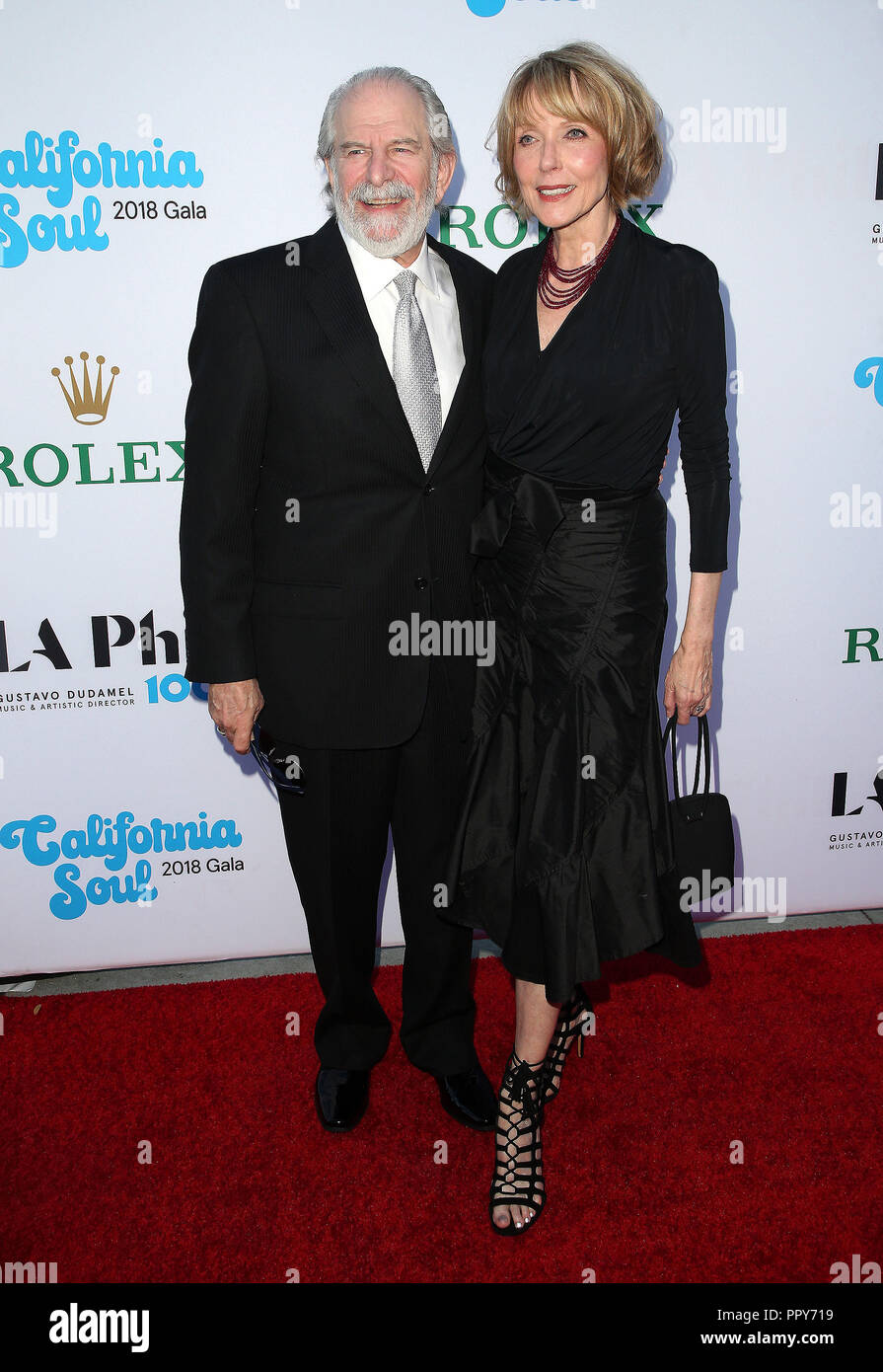 Los Angeles, California, USA. 27th Sep, 2018. 27 September 2018 - Los Angles, California - Steve Jaffe, Susan Blakely. 100th LA Philharmonic Opening Night Gala held at The Walt Disney Concert Hall. Photo Credit: Faye Sadou/AdMedia Credit: Faye Sadou/AdMedia/ZUMA Wire/Alamy Live News Stock Photo