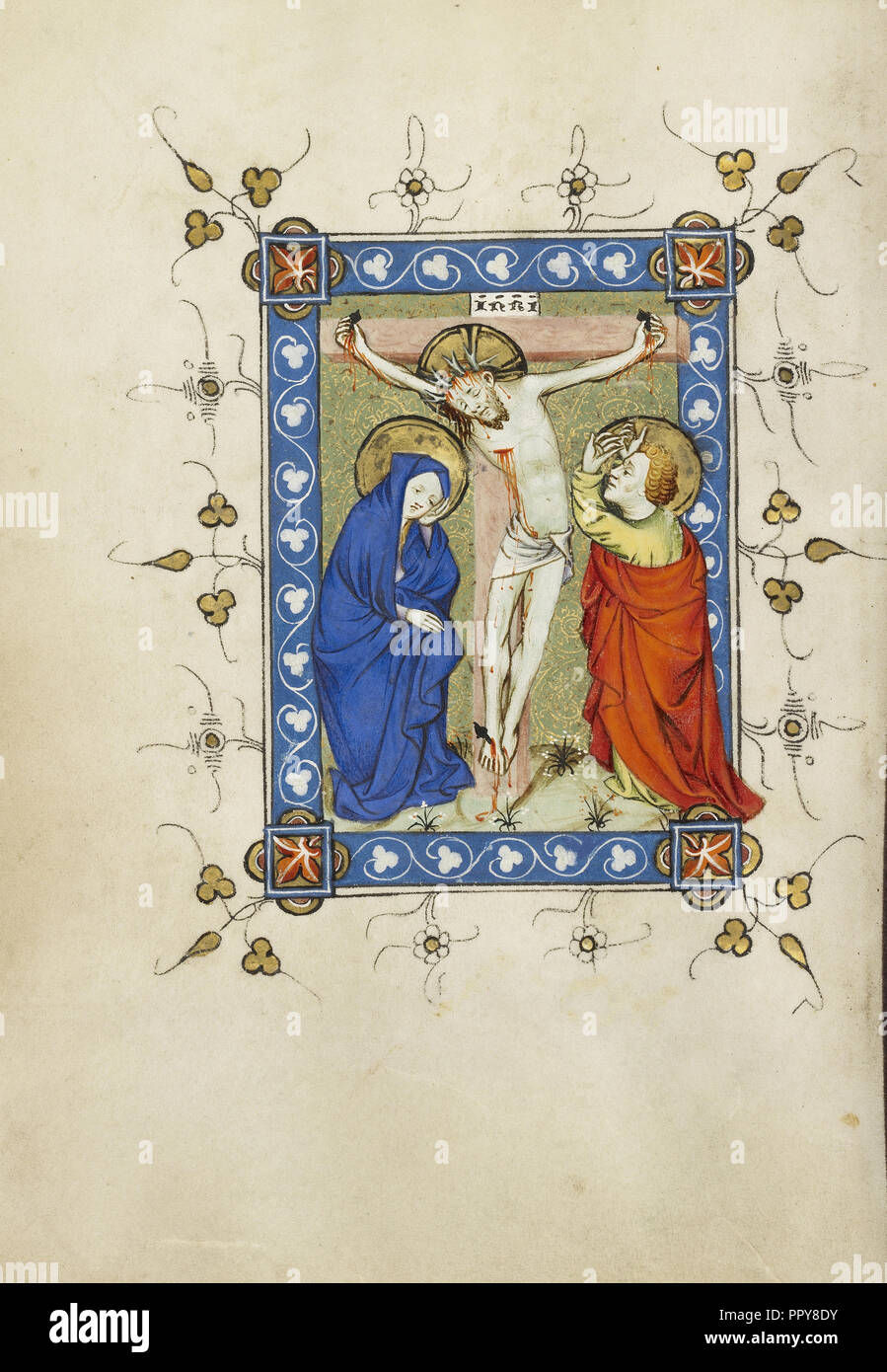 The Crucifixion; Masters of Dirc van Delf, Dutch, active about 1400 - about 1410, Utrecht, probably, Netherlands; about 1405 - Stock Image