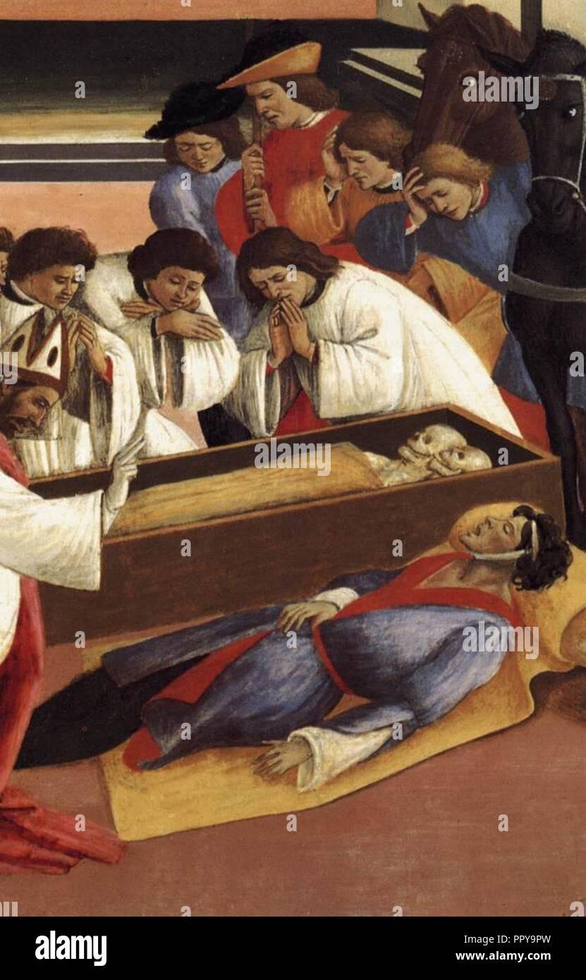Sandro Botticelli - Three Miracles of St Zenobius (detail) - WGA2825. - Stock Image