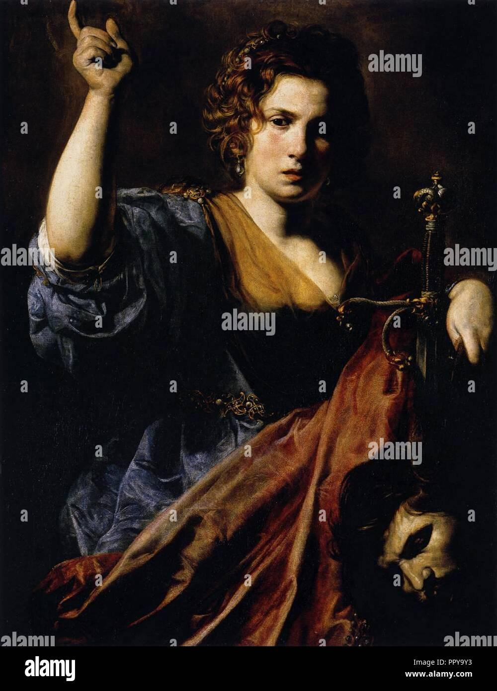 Valentin de Boulogne, Judith. - Stock Image