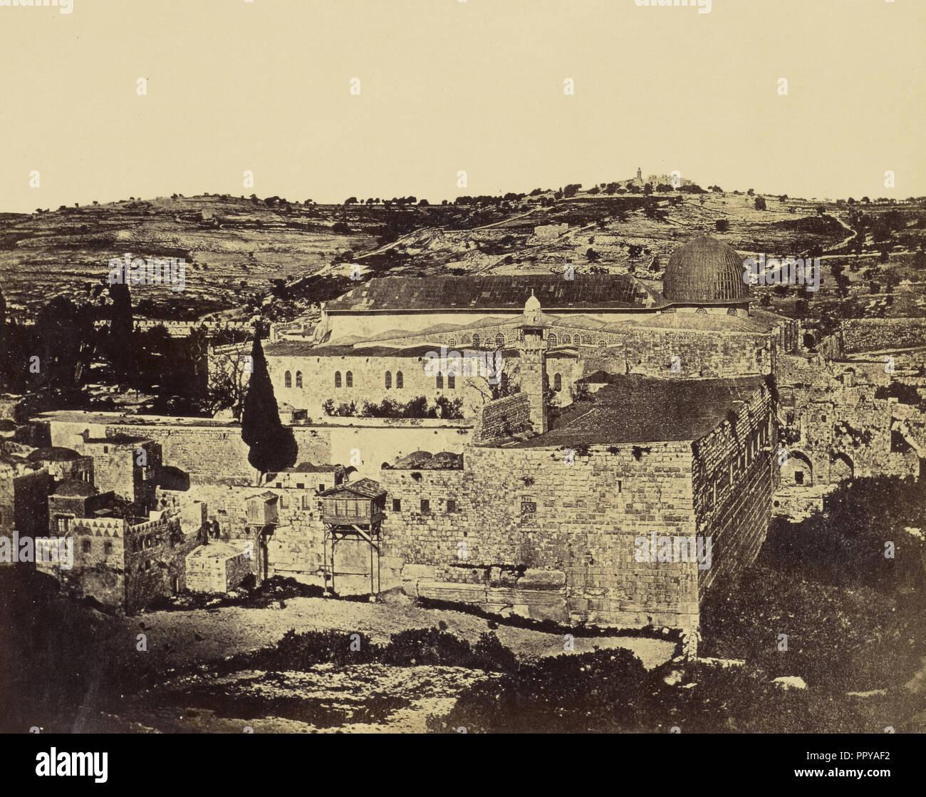 The Mosk, sic, el-Aska, Solomon's Gate; James Robertson, English, 1813 - 1888, Felice Beato, 1832 - 1909 - Stock Image