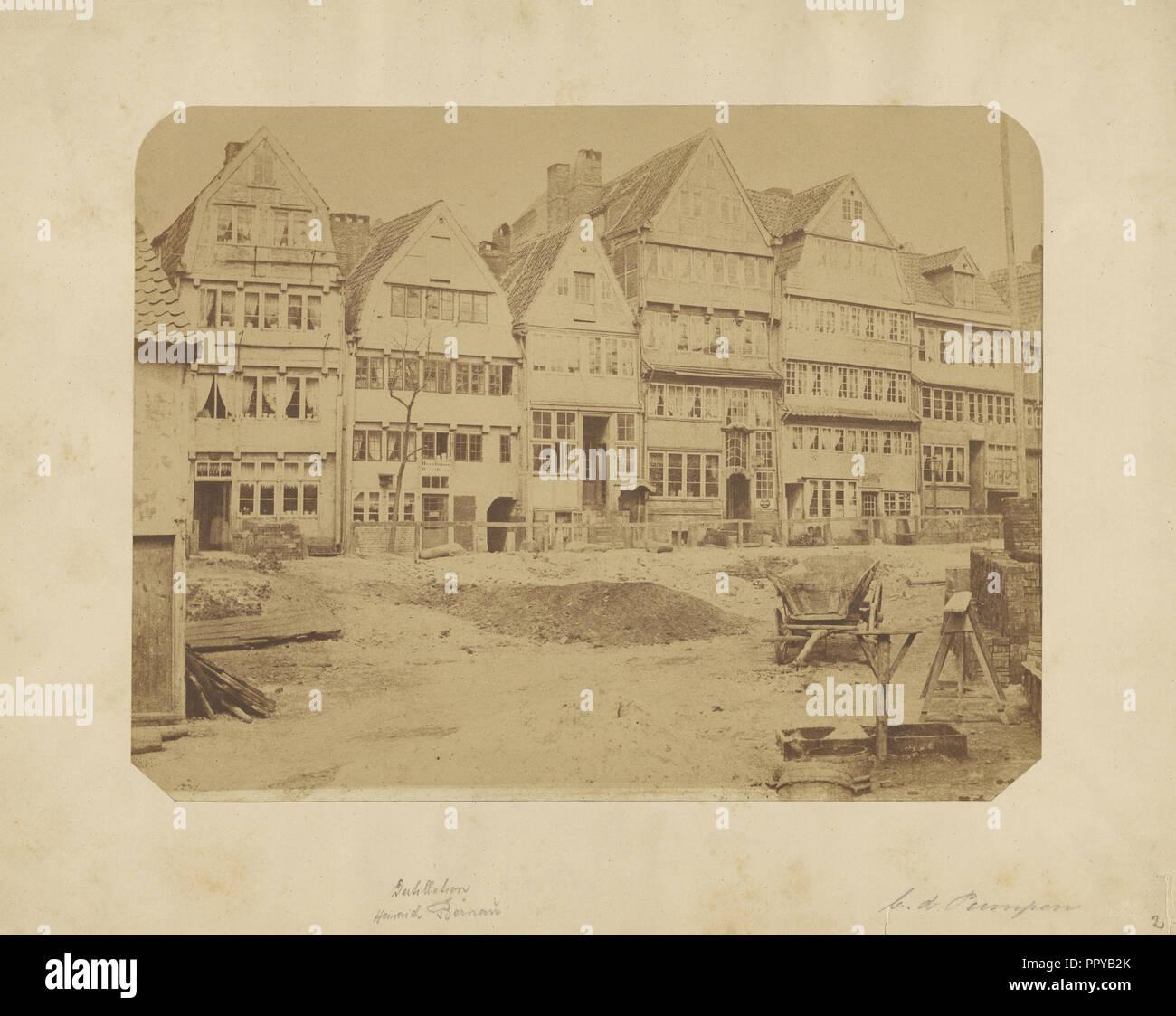 European town; Waldemar Fuchs, German, active Italy 1890s, late 19th century; Albumen silver print - Stock Image