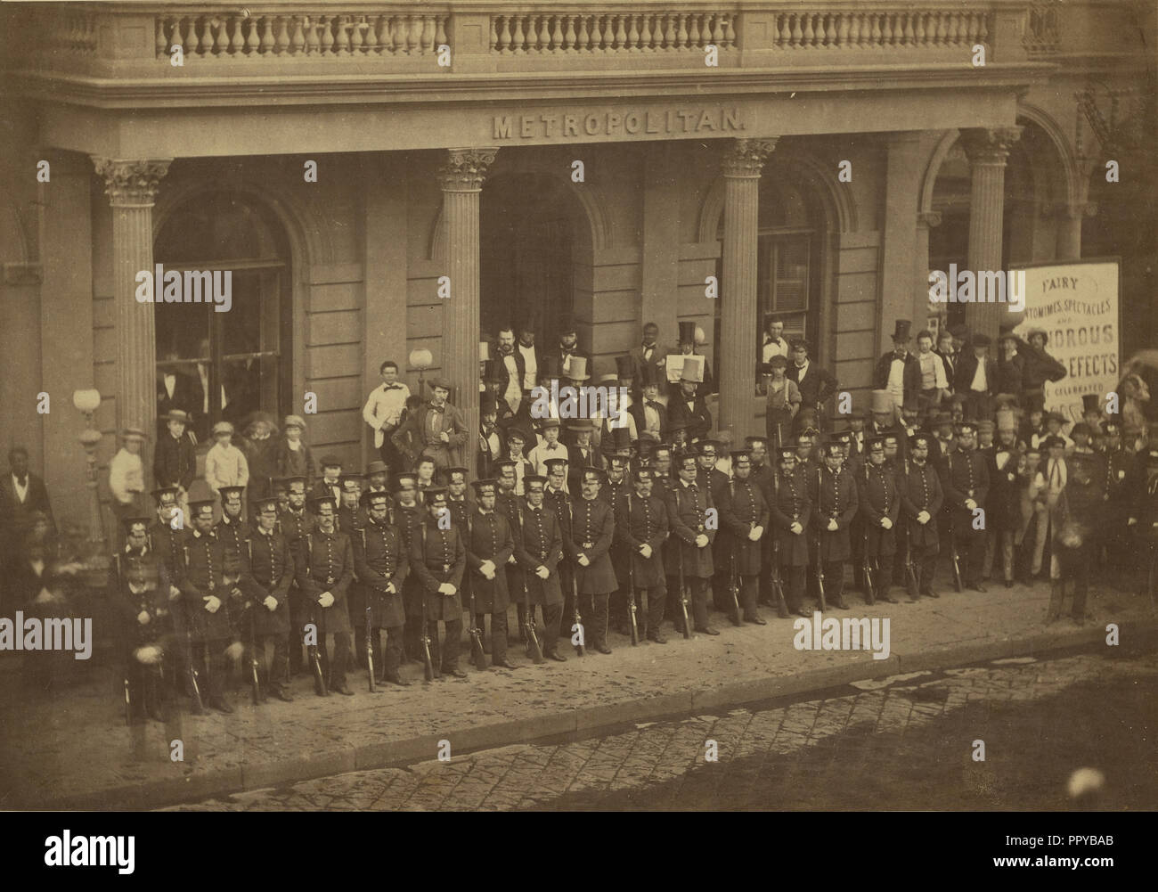 Group portrait of officers; Silas A. Holmes, American, 1820 - 1886, Charles DeForest Fredricks, American, 1823 - 1894) - Stock Image