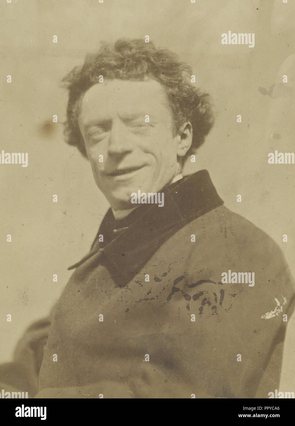 François-Louis Leseur, artiste dramatique, actor, Nadar, Gaspard Félix Tournachon, French, 1820 - 1910, 1854 - 1855; Salted - Stock Image