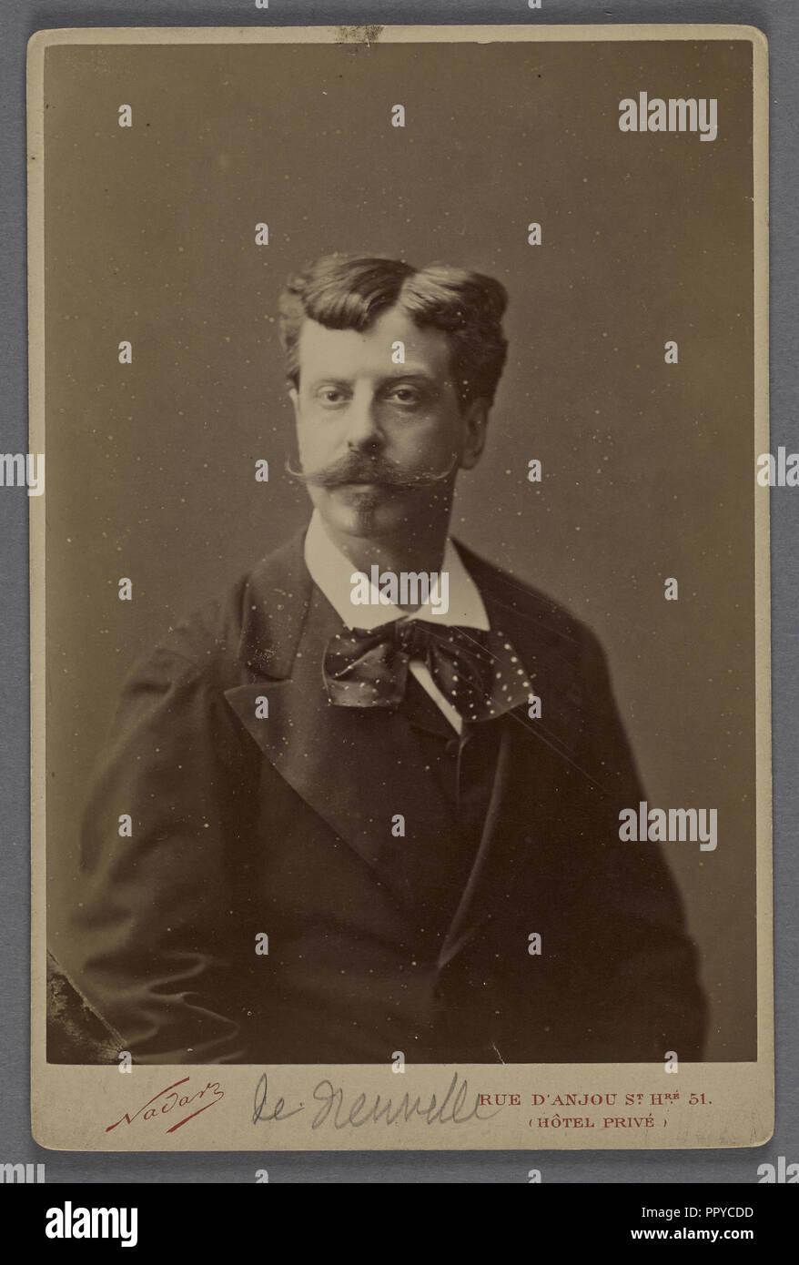 de Neuville, peintre; Nadar, Gaspard Félix Tournachon, French, 1820 - 1910, Paul Nadar, French, 1856 - 1939, 1878 - 1885 - Stock Image