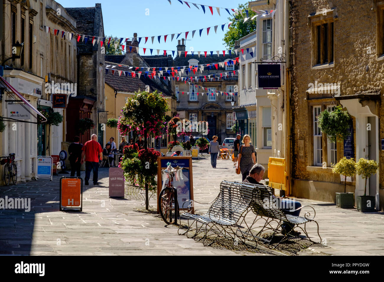 Corsham a small town in wiltshire near chippenham, England UK On a bright September day. Stock Photo