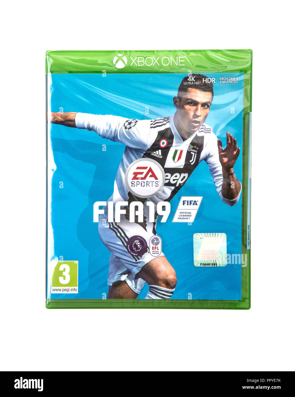 SWINDON, UK - SEPTEMBER 28, 2018: FIFA 2019 by EA Sports for the XBOX One console - Stock Image