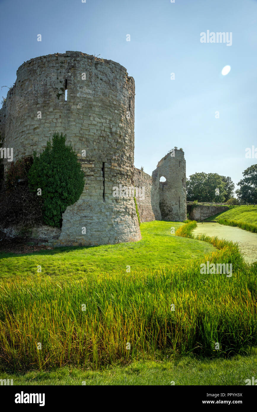 The Norman part of Pevensey Castle, East Sussex, UK - Stock Image