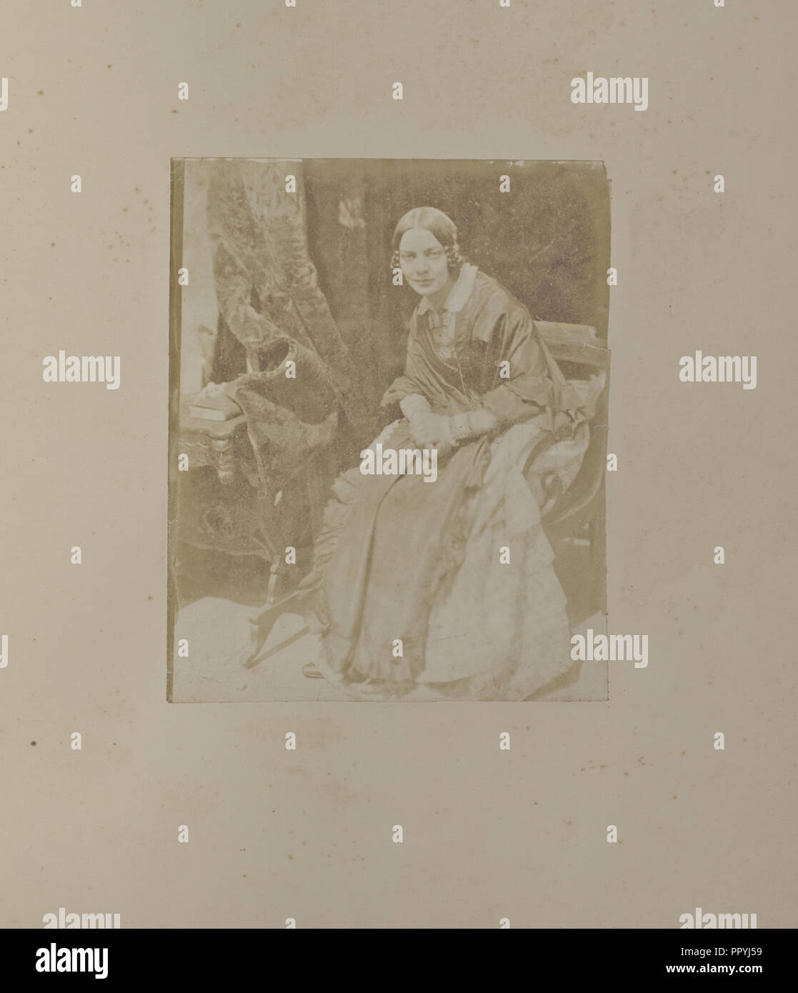 Mrs Matilda, Rigby, Smith; Hill & Adamson, Scottish, active 1843 - 1848, Scotland; 1843 - 1846; Salted paper print Stock Photo