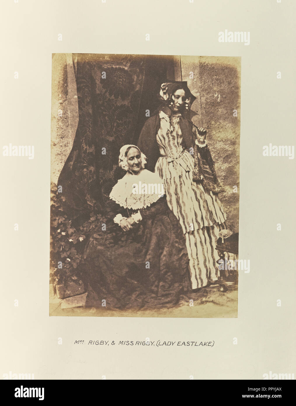 Mrs. Rigby and Miss Rigby, Lady Eastlake, Hill & Adamson, Scottish, active 1843 - 1848, Scotland; 1843 - 1848; Salted paper - Stock Image