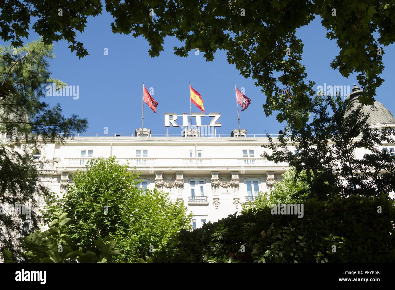 Ritz Hotel, Madrid, Spain - Stock Image