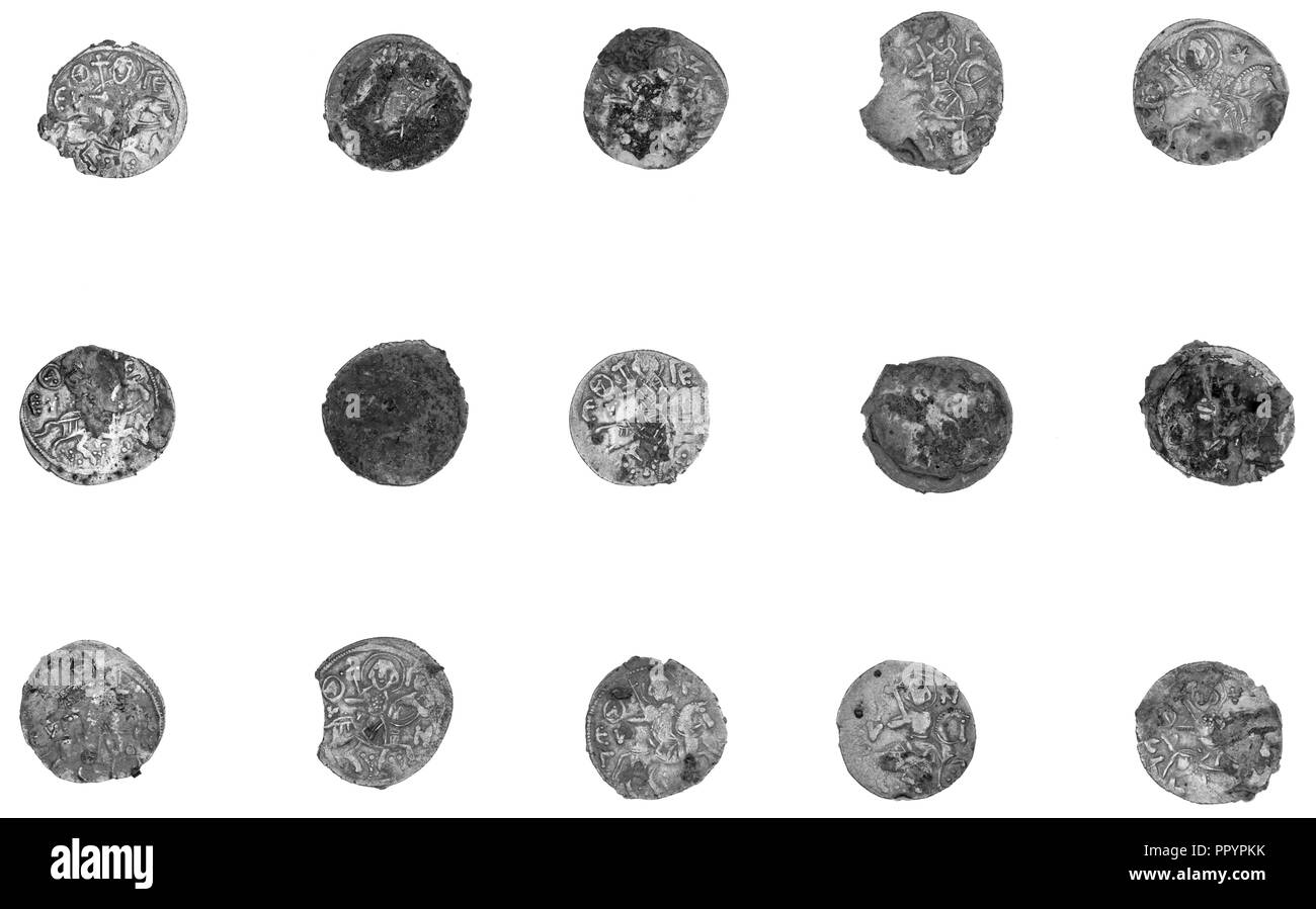 Unattributed Trebizond Coin; about 13th century; Silver - Stock Image