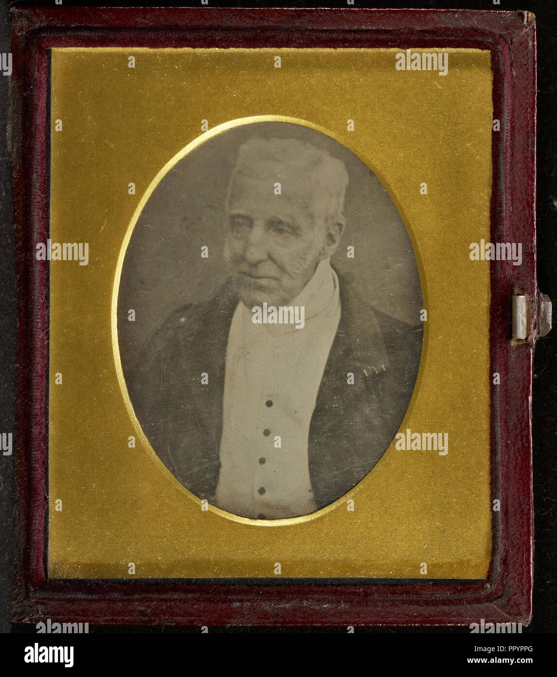 Portrait of the Duke of Wellington; Antoine Claudet, French, 1797 - 1867, May 1, 1844; Daguerreotype - Stock Image