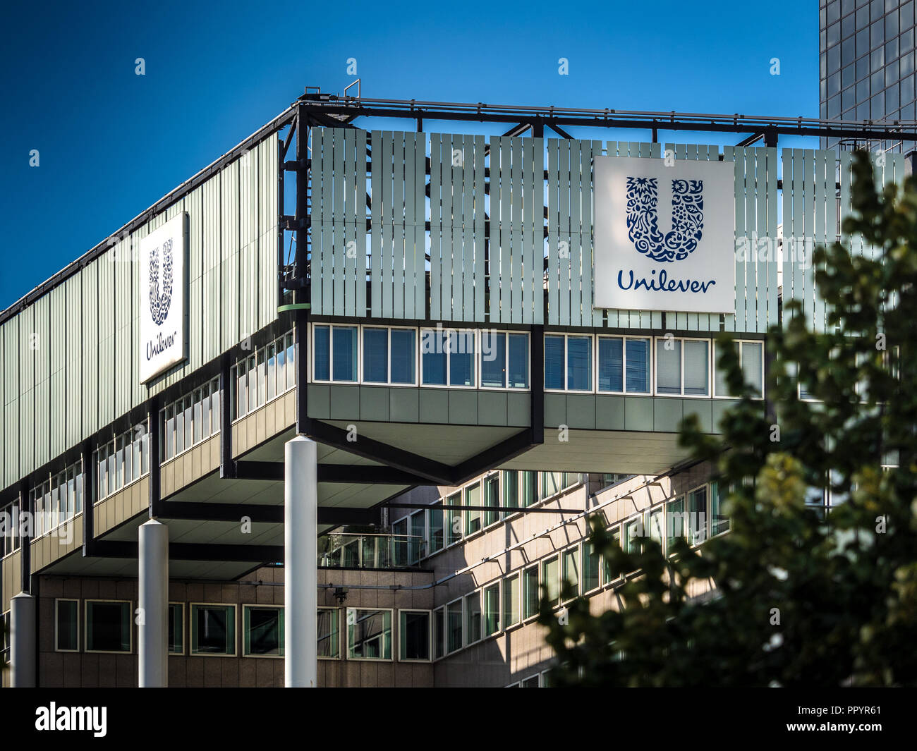 Unilever Head Office HQ building in Rotterdam - Stock Image