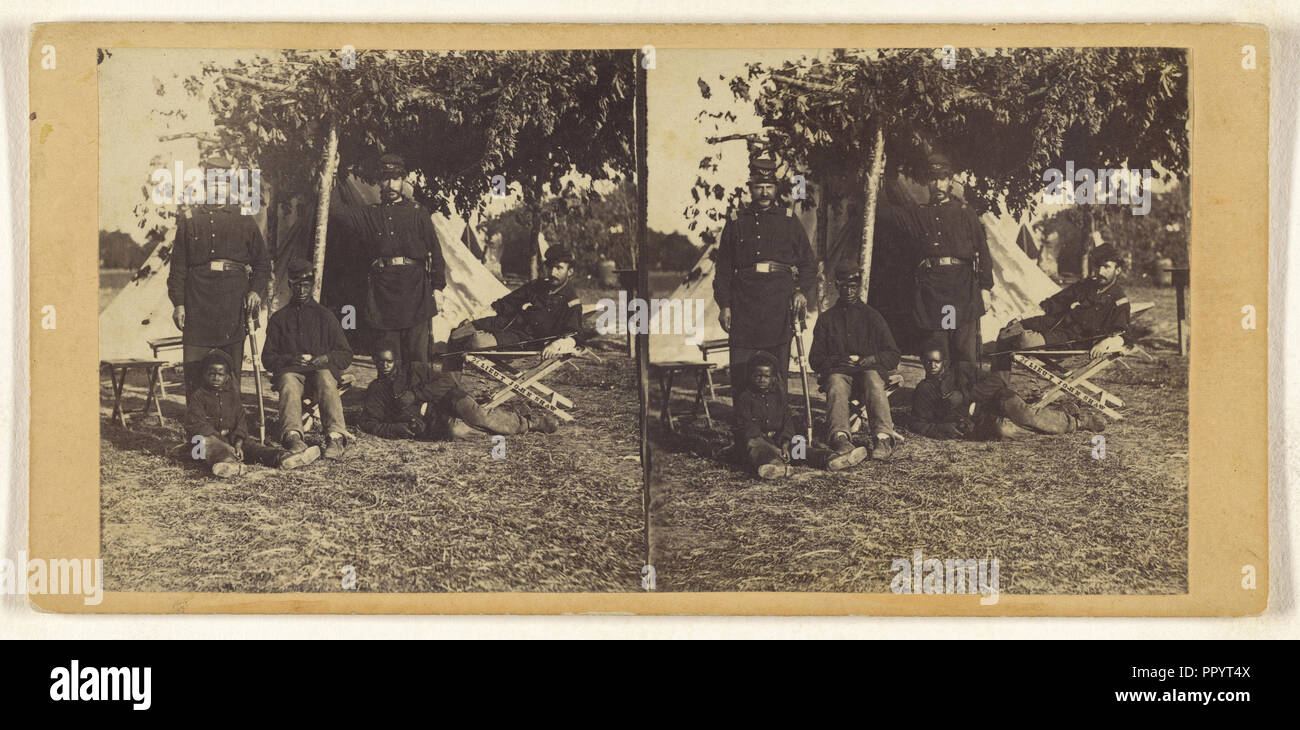Contraband Foreground. Army of the Potomac; Edward and Henry T. Anthony & Co., American, 1862 - 1902, about 1864; Albumen - Stock Image