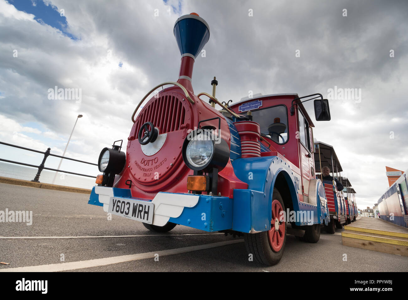 The Land Train in Bridlington on the Yorkshire coast - Stock Image