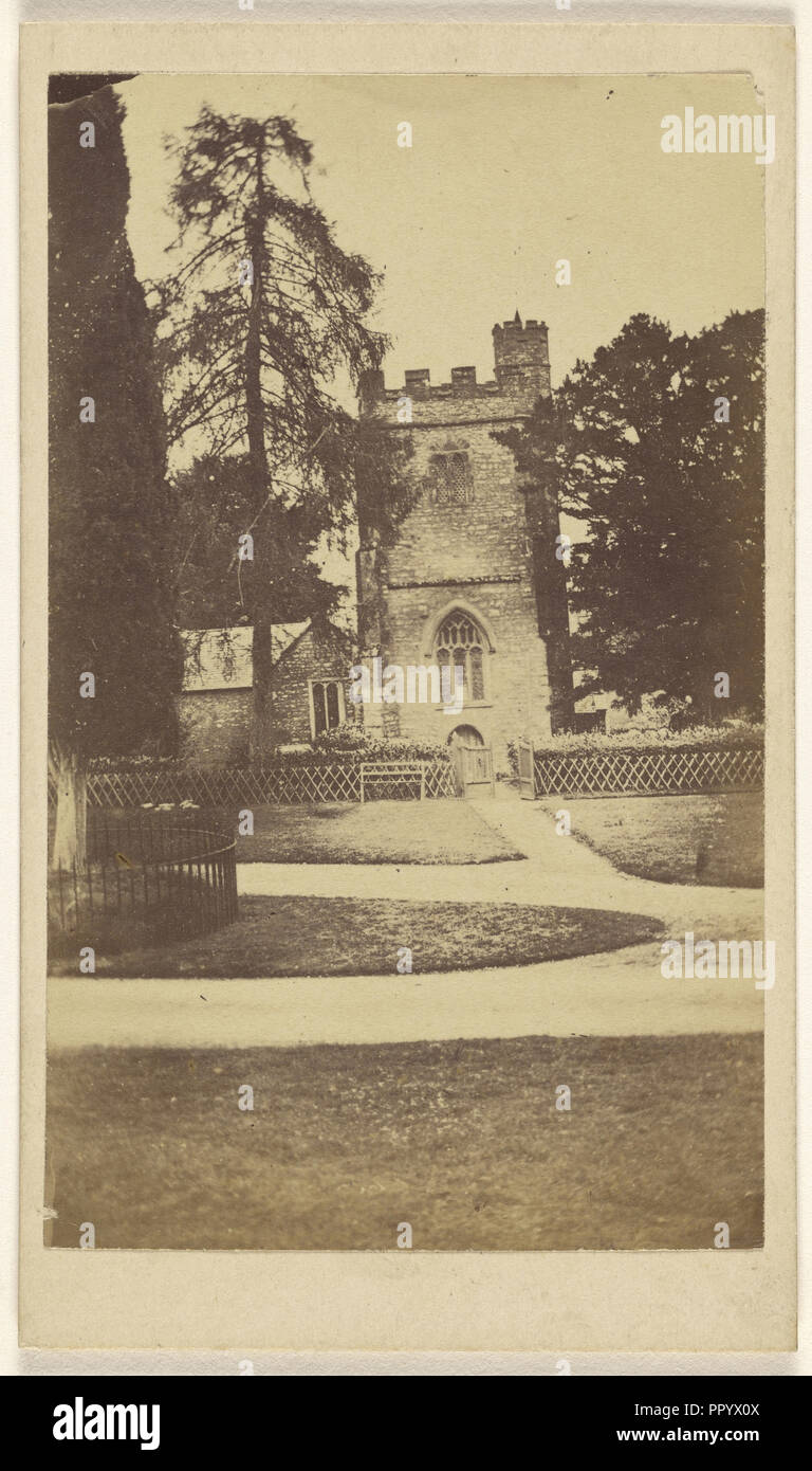 Mamhead Church; William J. Chapman, English, 1830 - 1885, about 1865; Albumen silver print - Stock Image