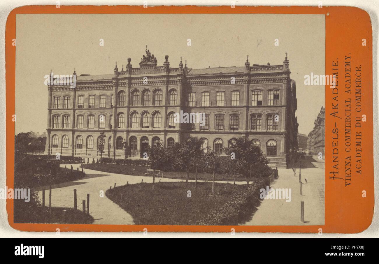 Handels-Akademie.,Vienna Commercial Academy; Oscar Kramer, Austrian, 1835 - 1892, 1865 - 1875; Albumen silver print - Stock Image