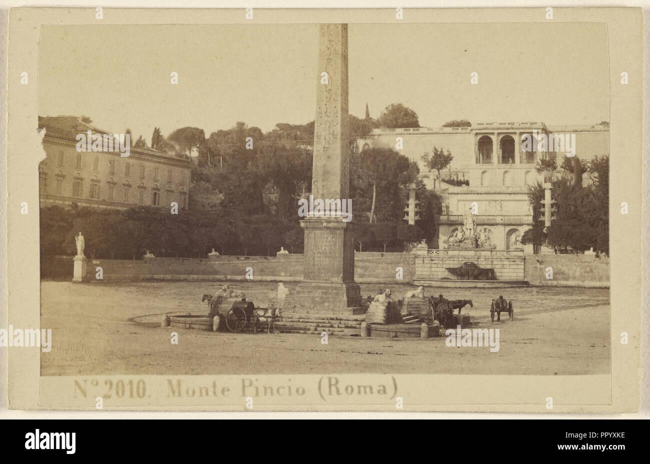 Monte Pincio, Roma, Sommer & Behles, Italian, 1867 - 1874, 1870 - 1875; Albumen silver print - Stock Image