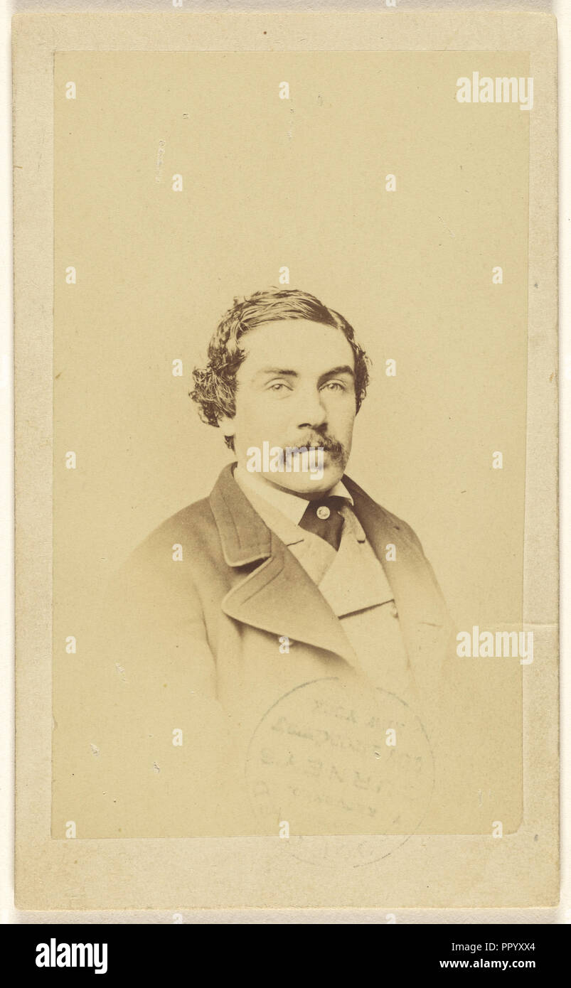 Eugene Durnin. Picture Taken when He Was Recovering from injuries in Civil War; Jeremiah Gurney & Son; 1865 - 1875; Albumen - Stock Image